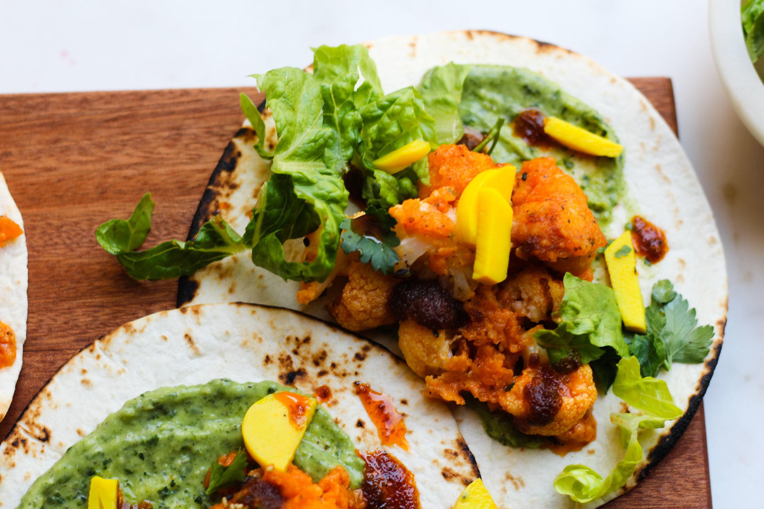 Buffalo Cauliflower Tacos