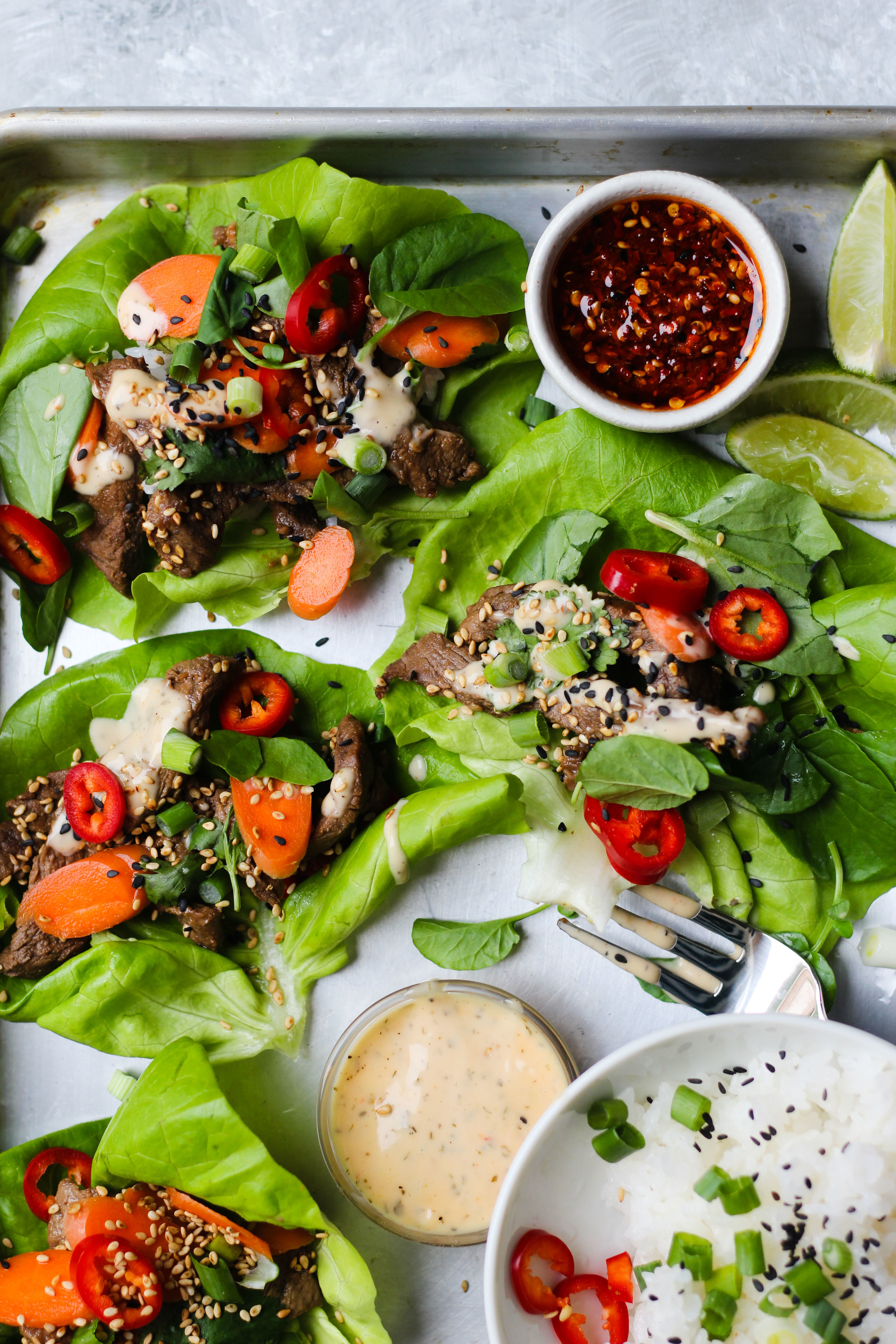 Thai Steak Lettuce Wraps