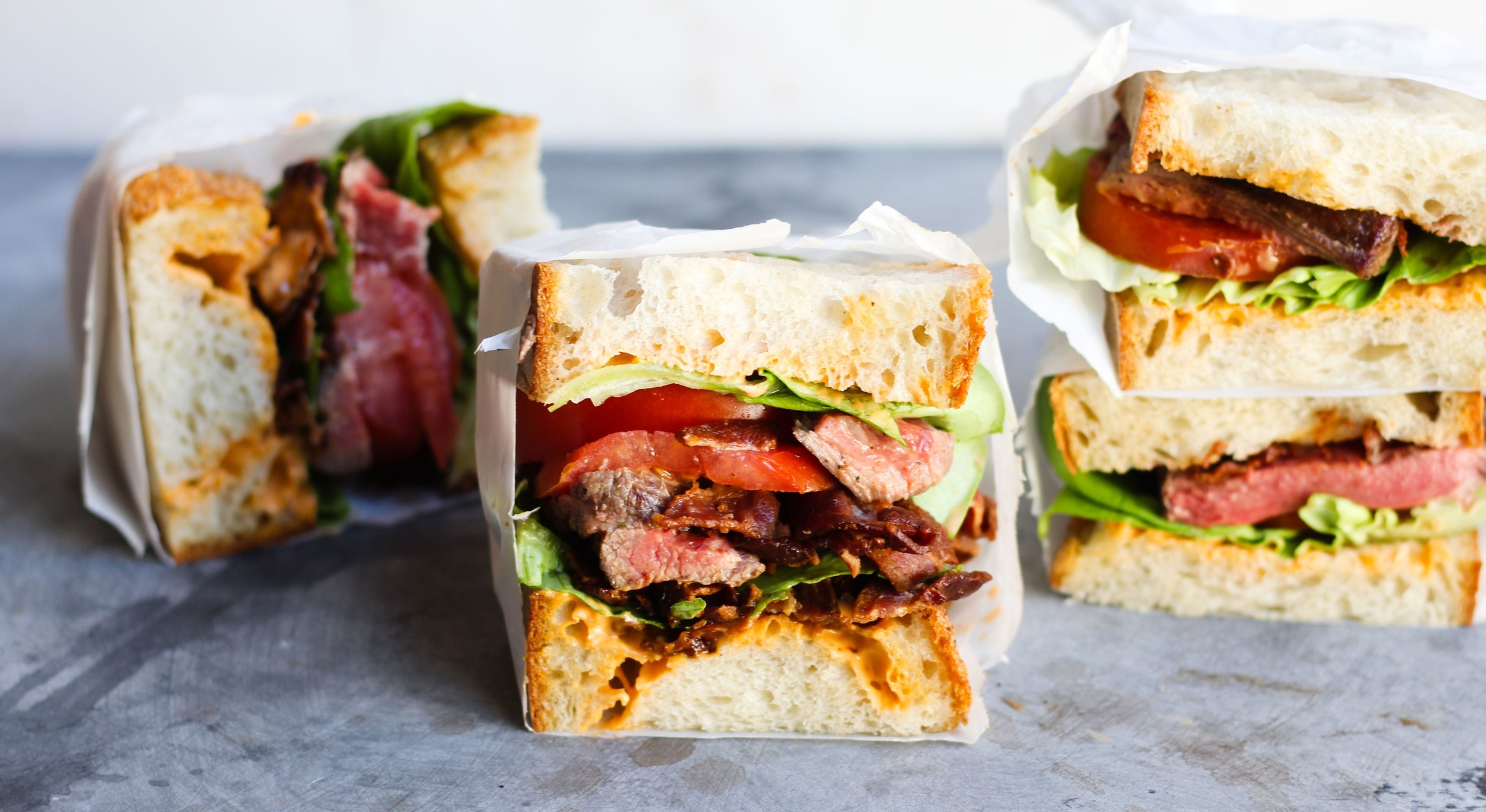 Steak BLT with Spicy Sesame Sauce
