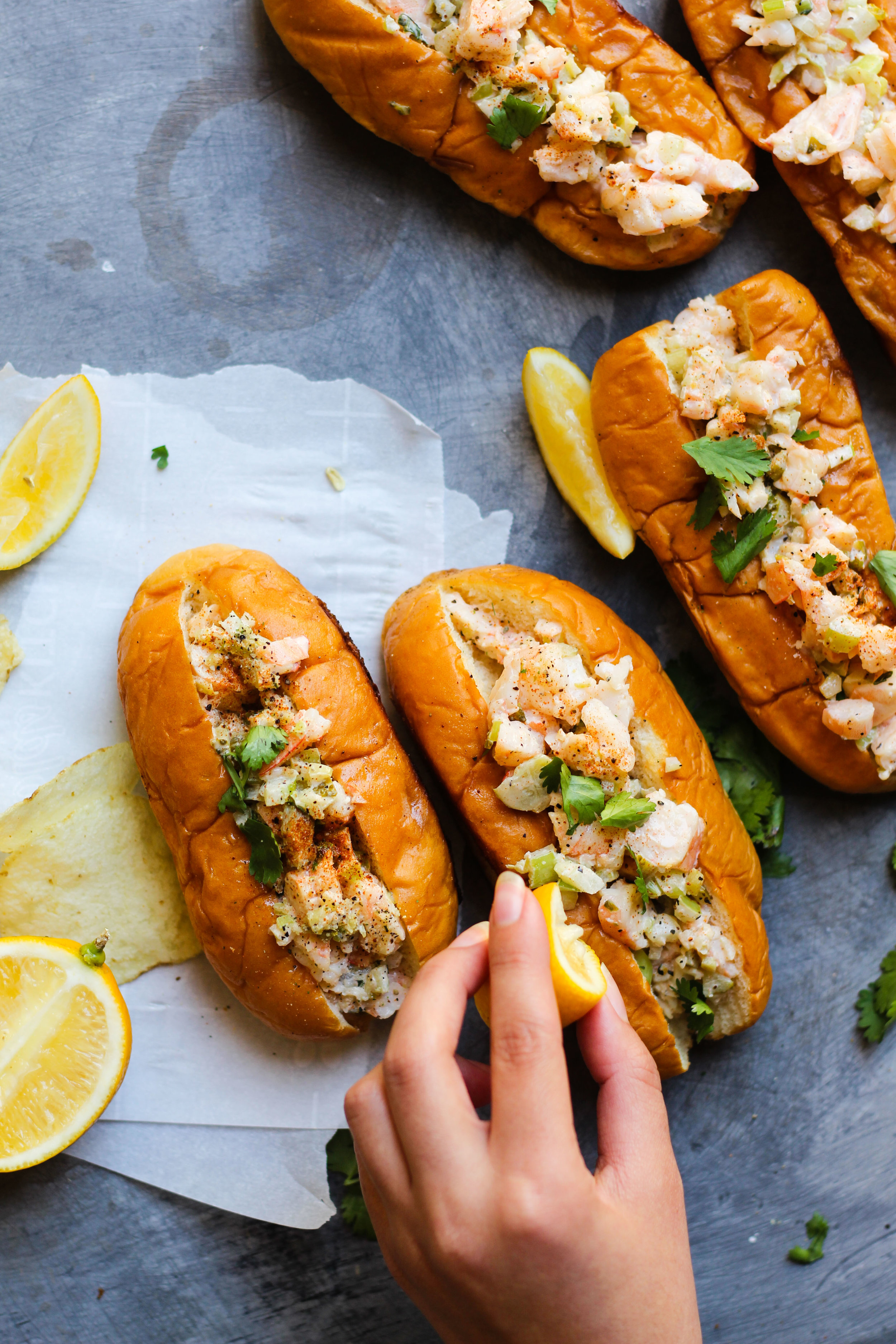 Sesame Oil Shrimp Rolls