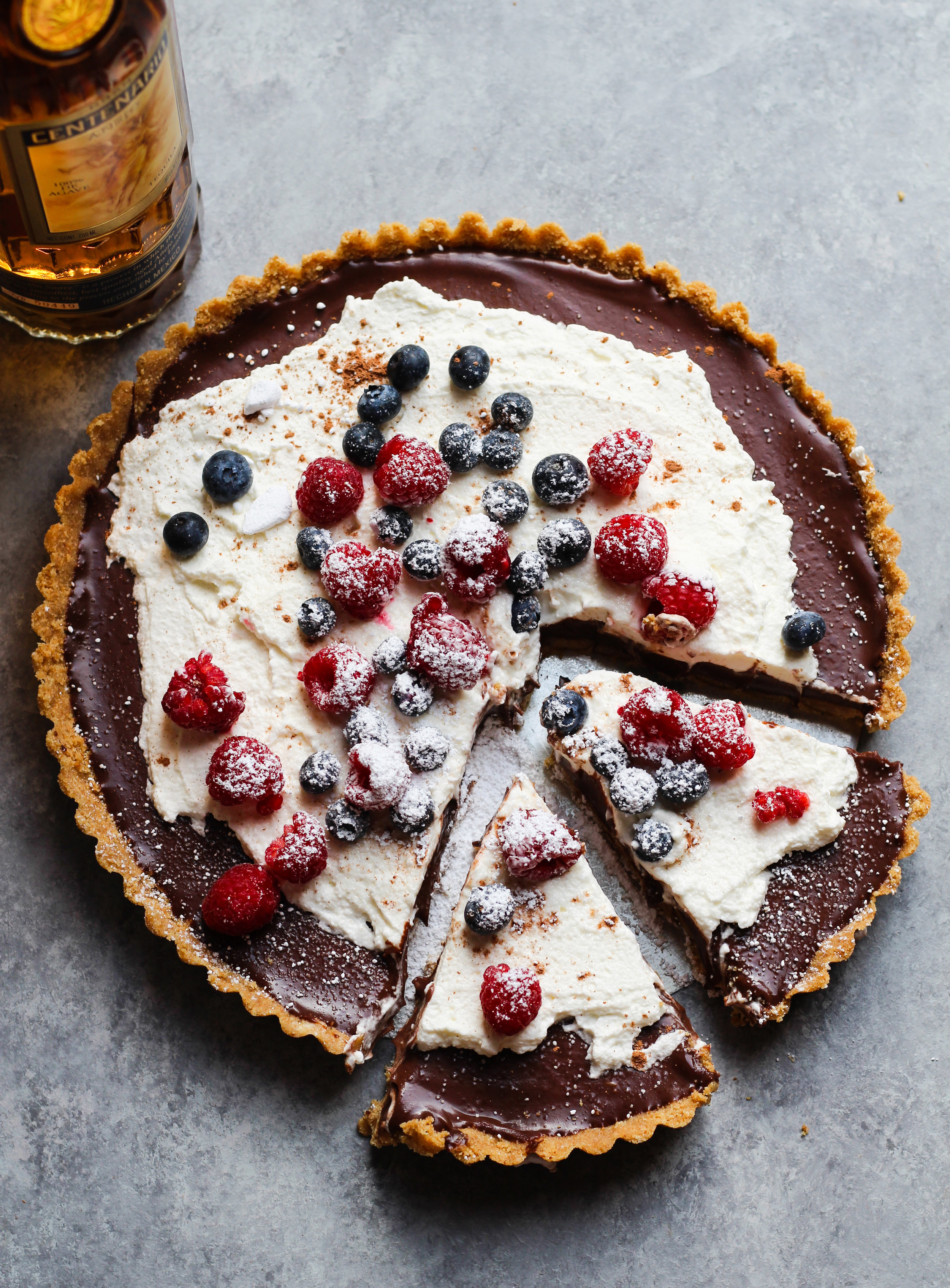 Spiked Mexican Chocolate Tart