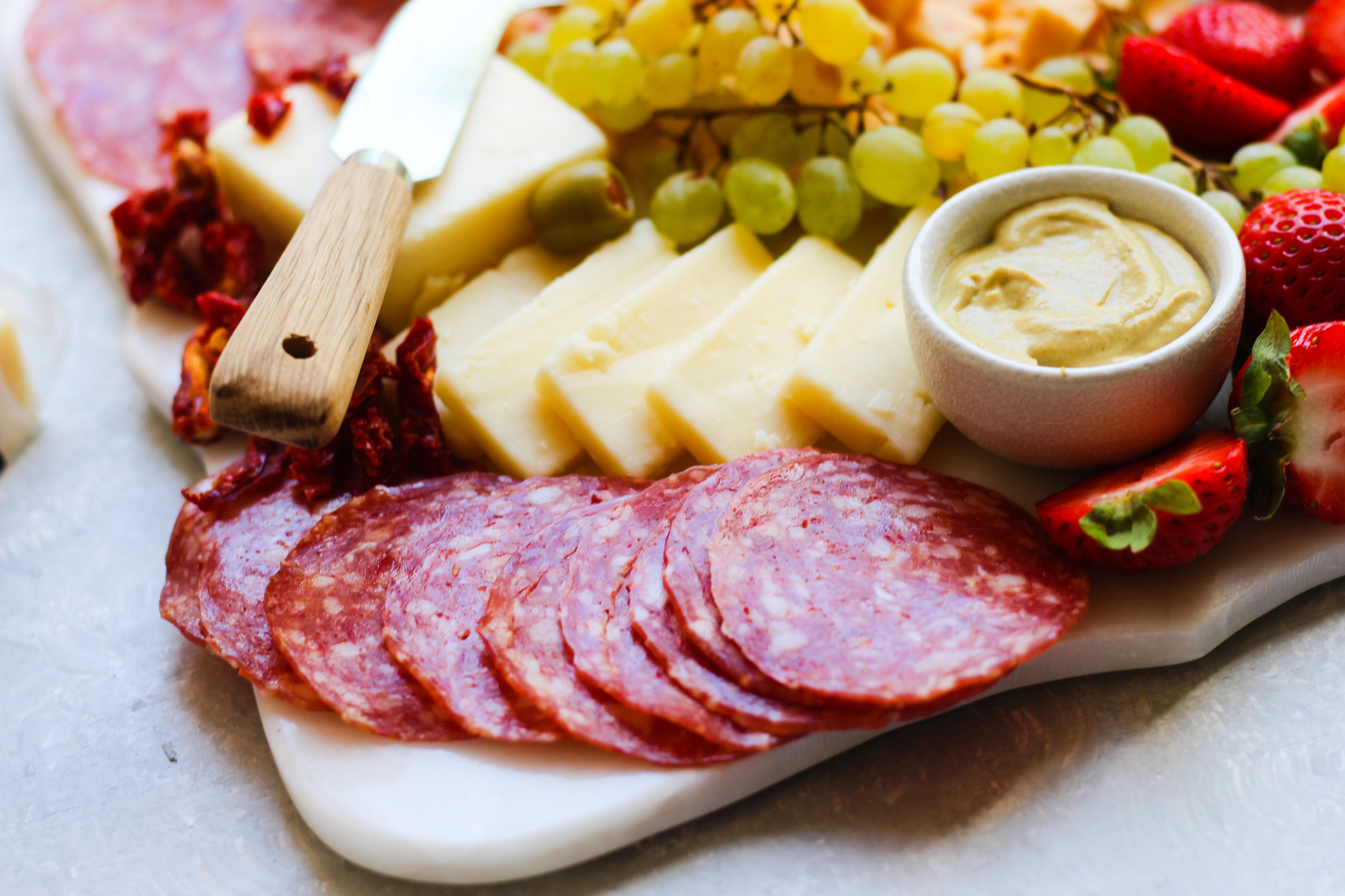 Loaded Cheese and Salami Board