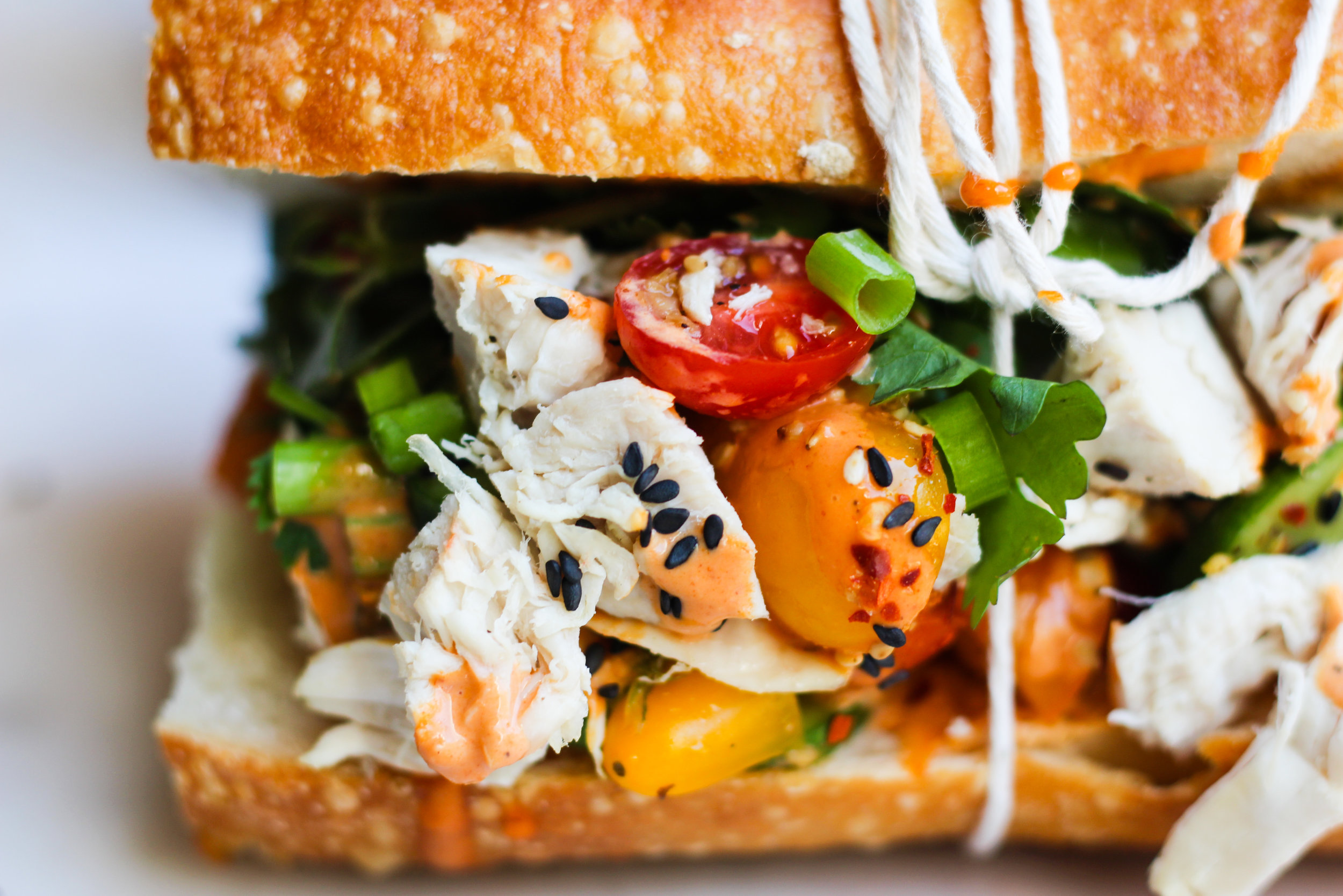 Hainan Chicken Sandwich with Gochujang Spicy Mayo