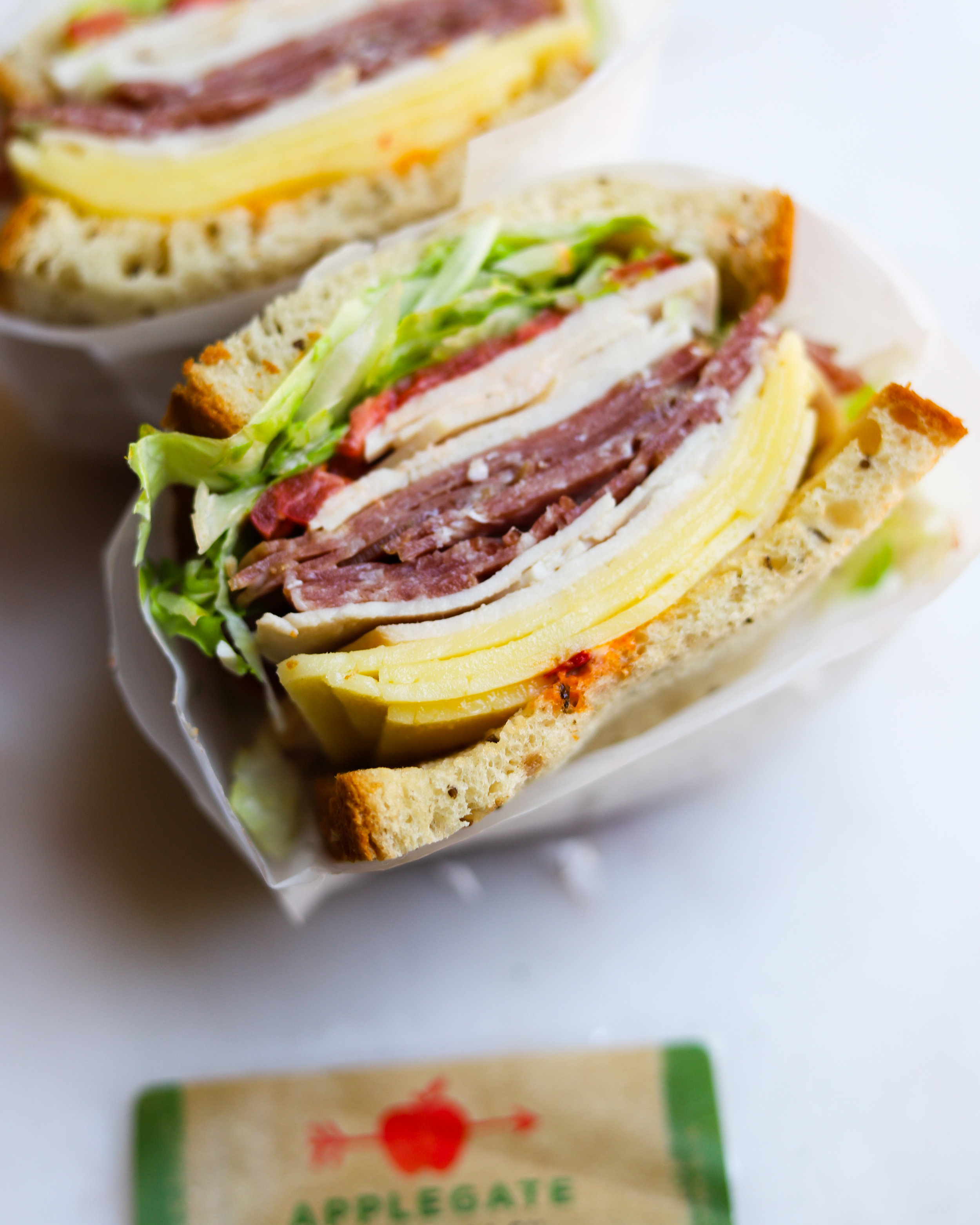Stacked Spicy Italian Sandwich with Calabrian Chili Mayo