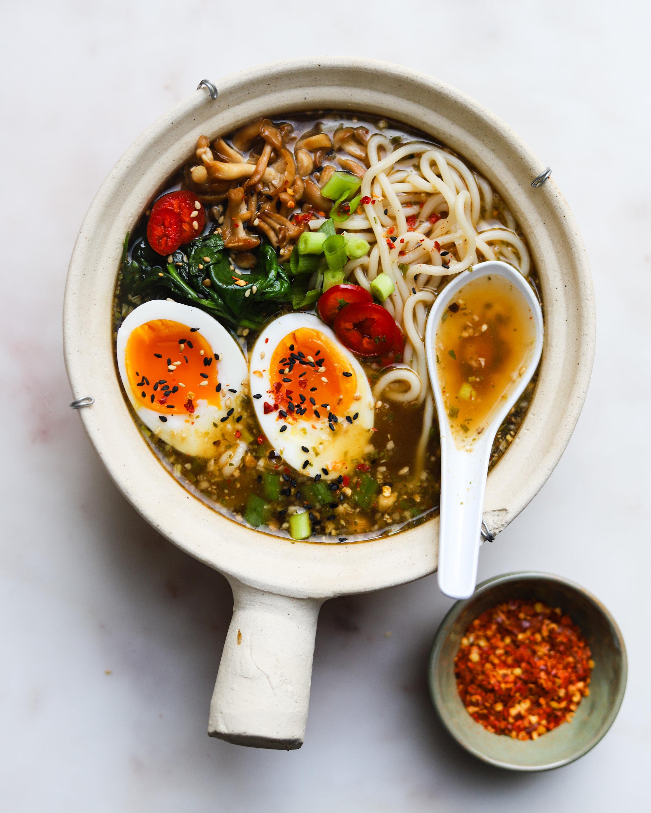 Loaded Chicken Ramen Noodle Soup