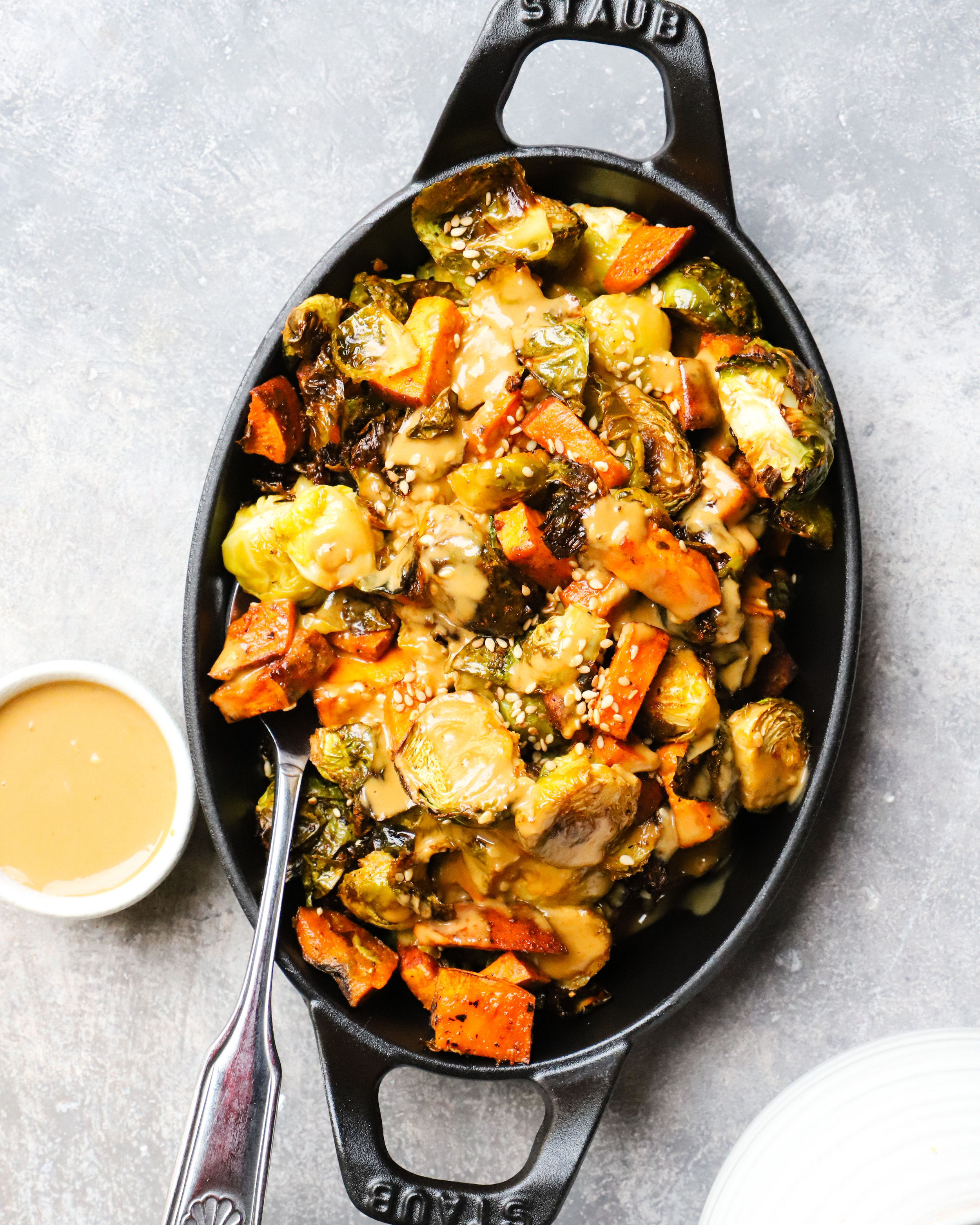 Roasted Vegetables & Sesame Sunflower Butter Dressing