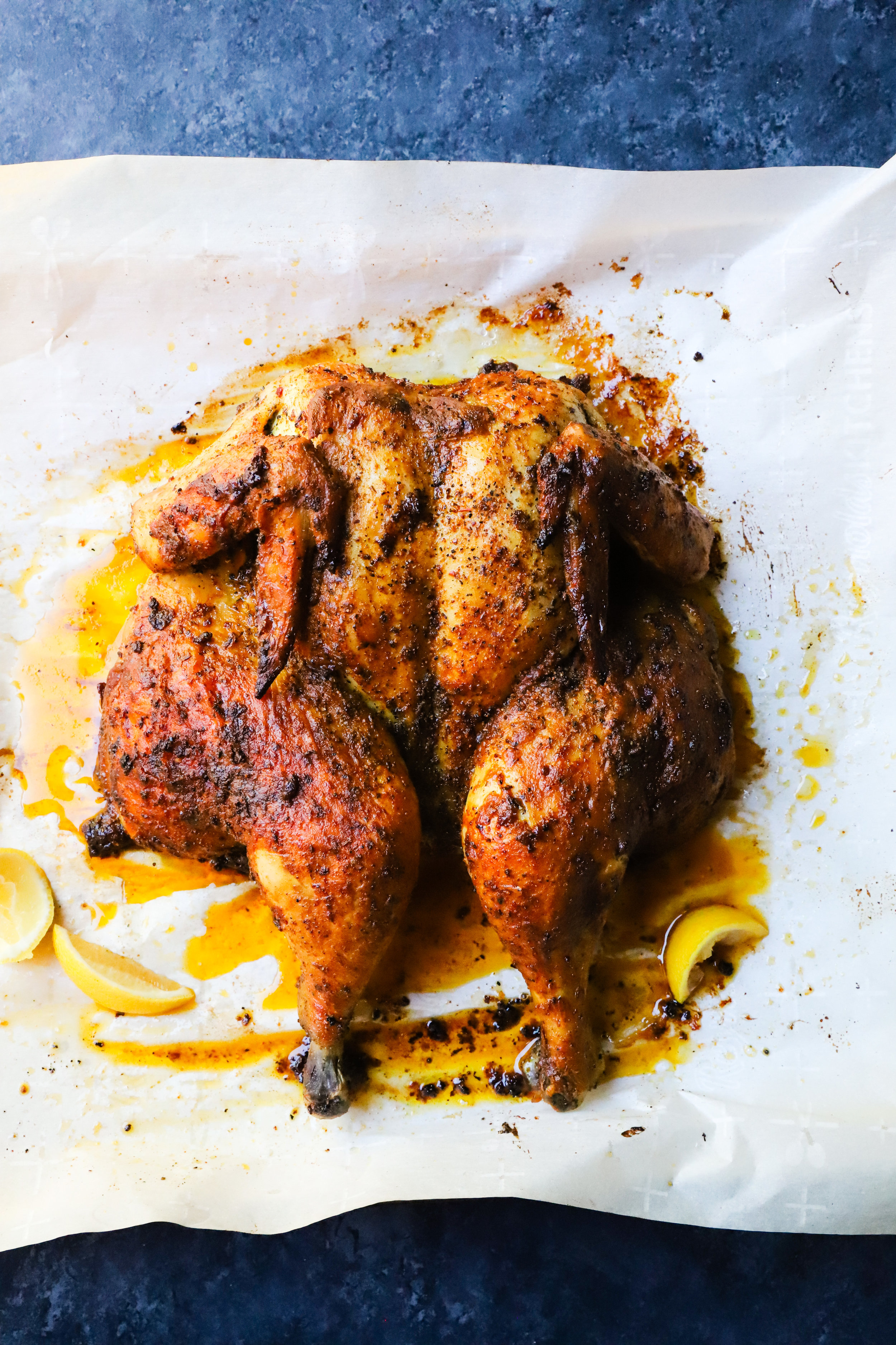 Paprika & Mustard Spatchcock Chicken