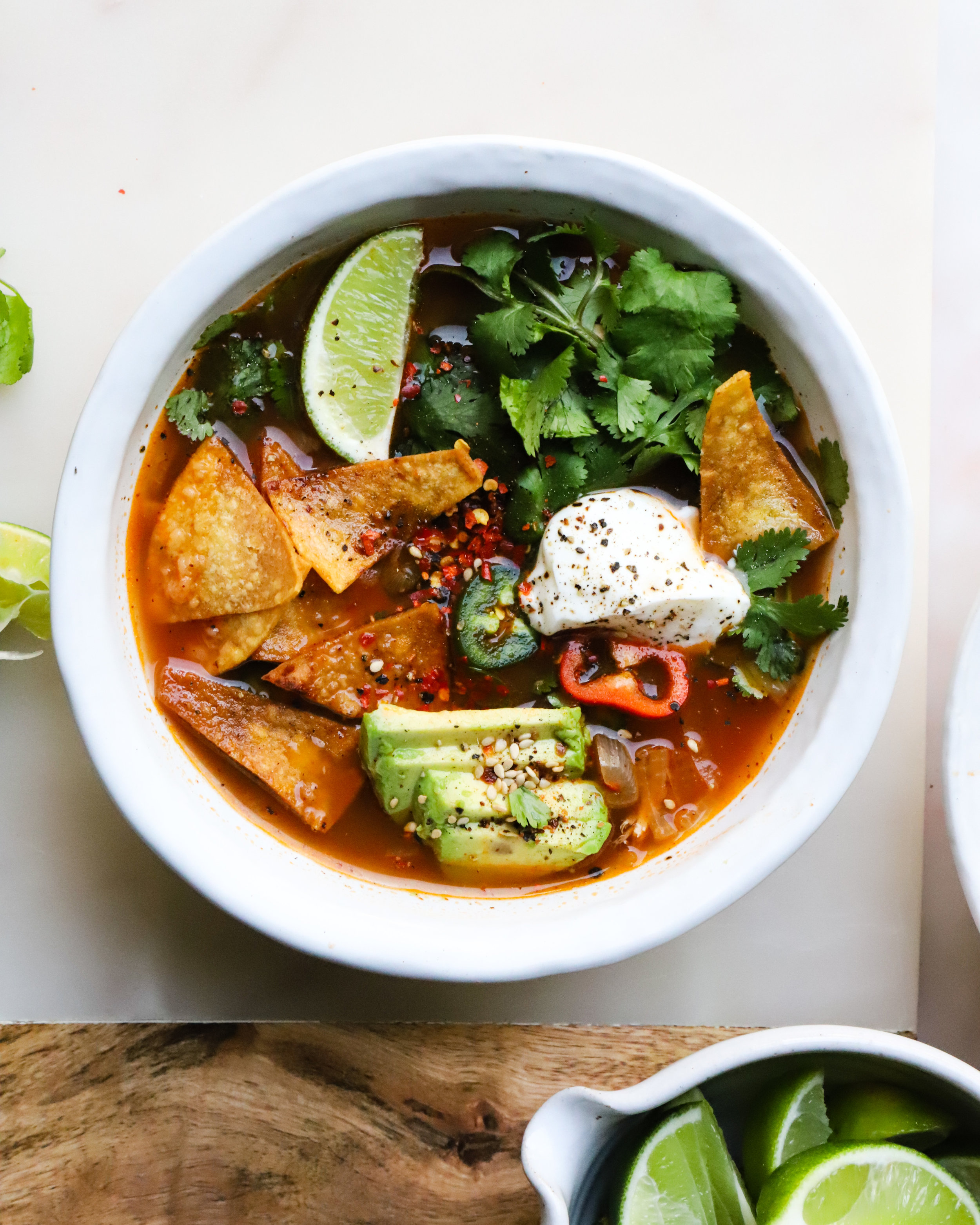 30 Minute Chicken Tortilla Soup