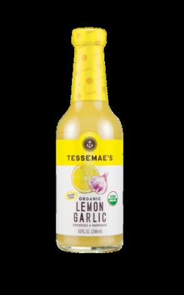 Tessemae's Organic Lemon Garlic Dressing and Marinade, 10 Fl Oz