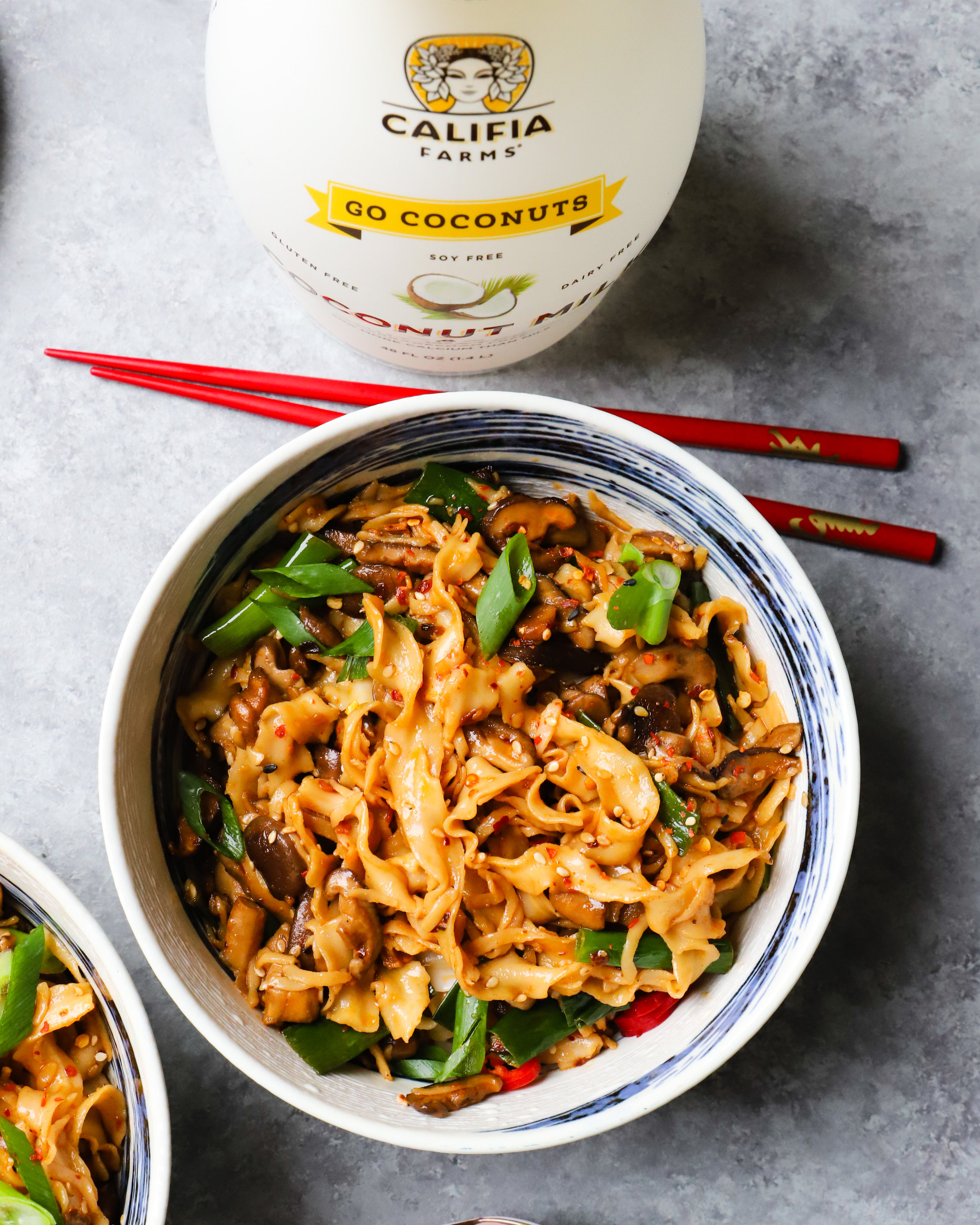 8 Ingredient Coconut Stir Fry Noodles