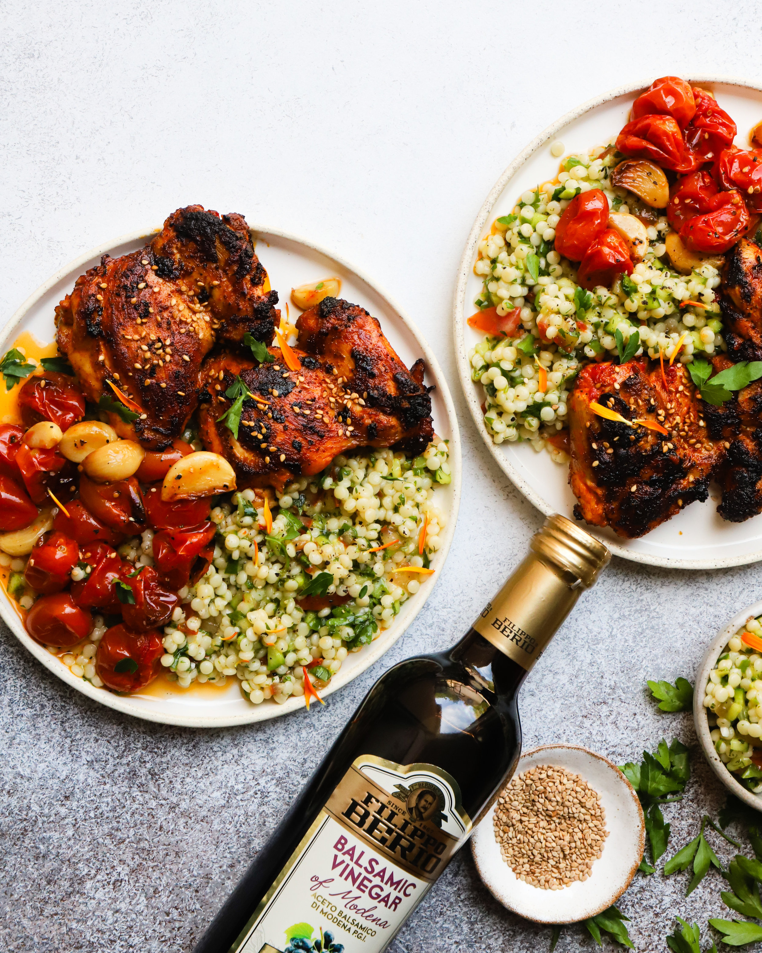 Calabrian Balsamic Chicken Thighs