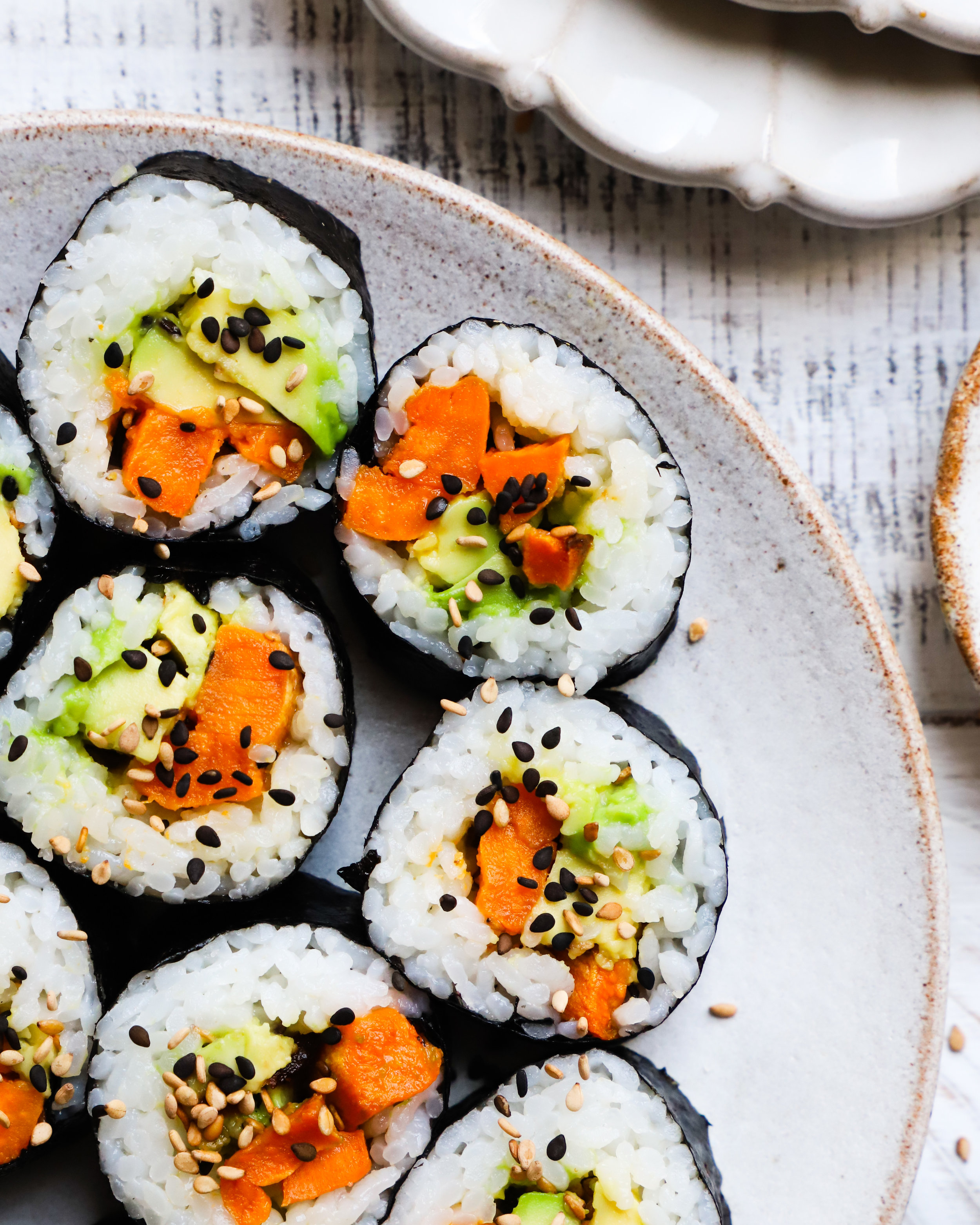 Miso Sweet Potato & Avocado Roll