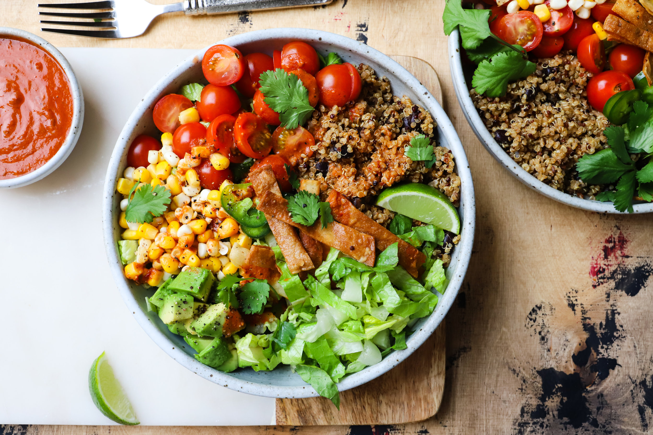 Burrito Bowl with Chipotle Lime Dressing