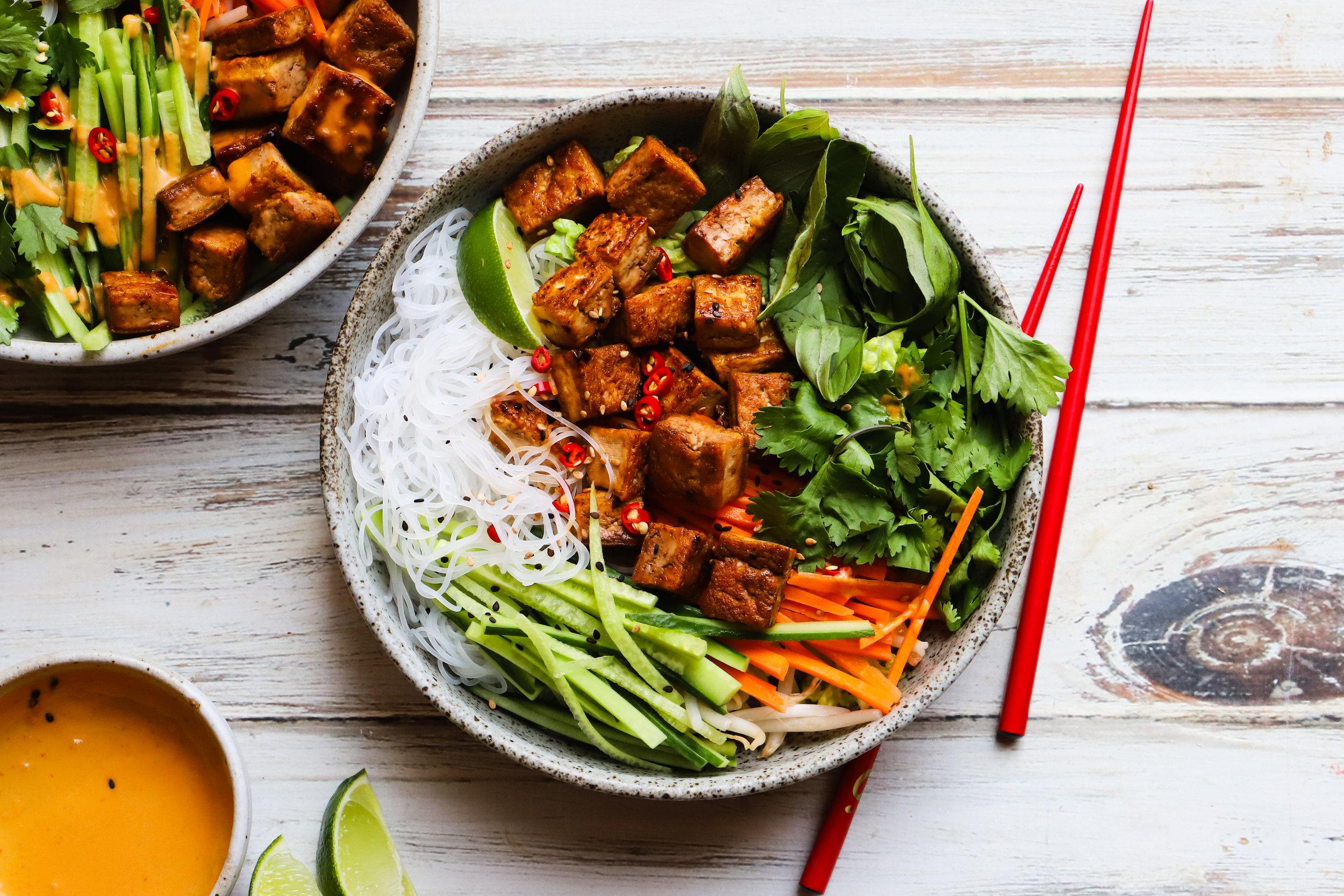 Vegan Vietnamese Noodle Salad