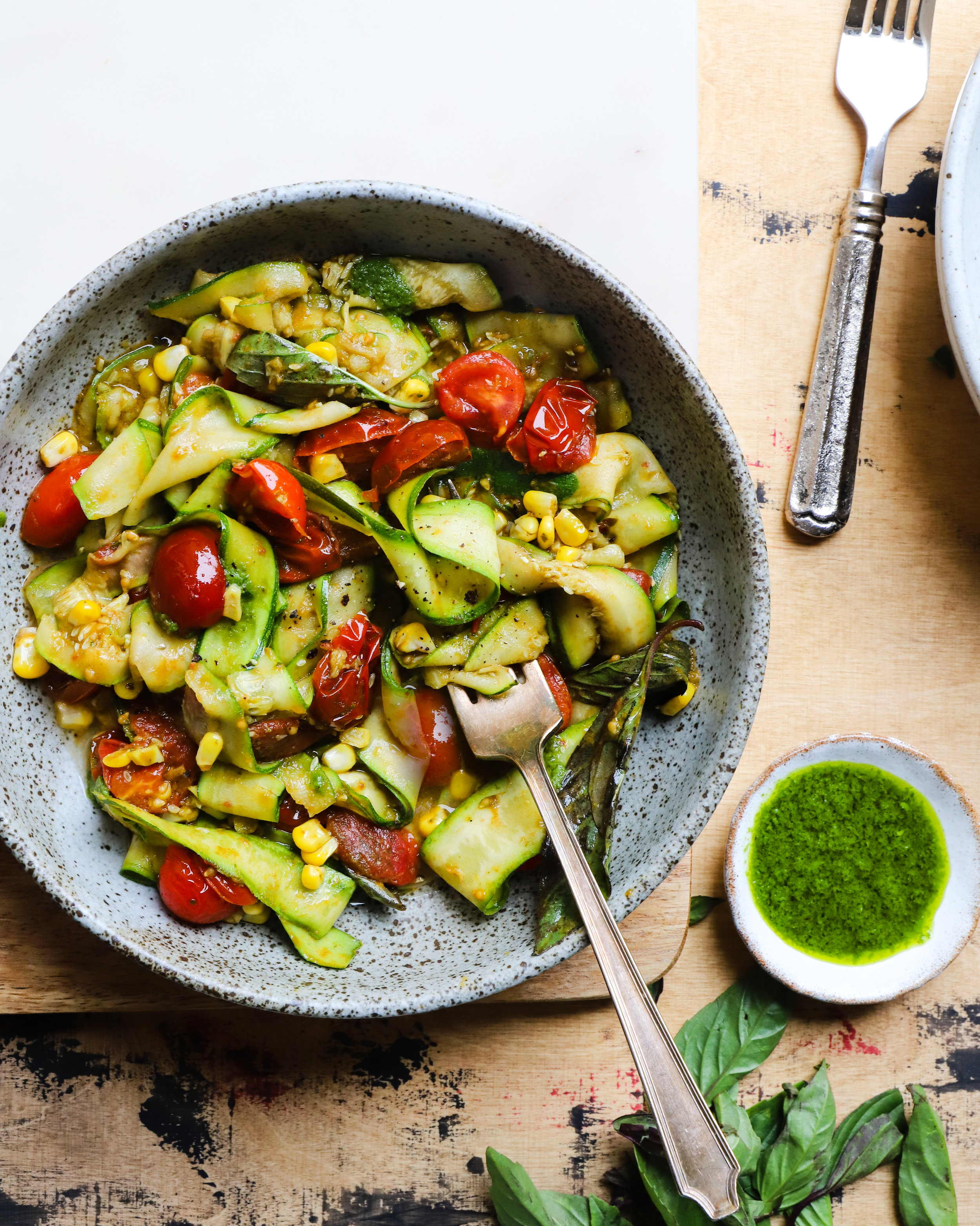 Pappardelle Zucchini with Ginger Pesto