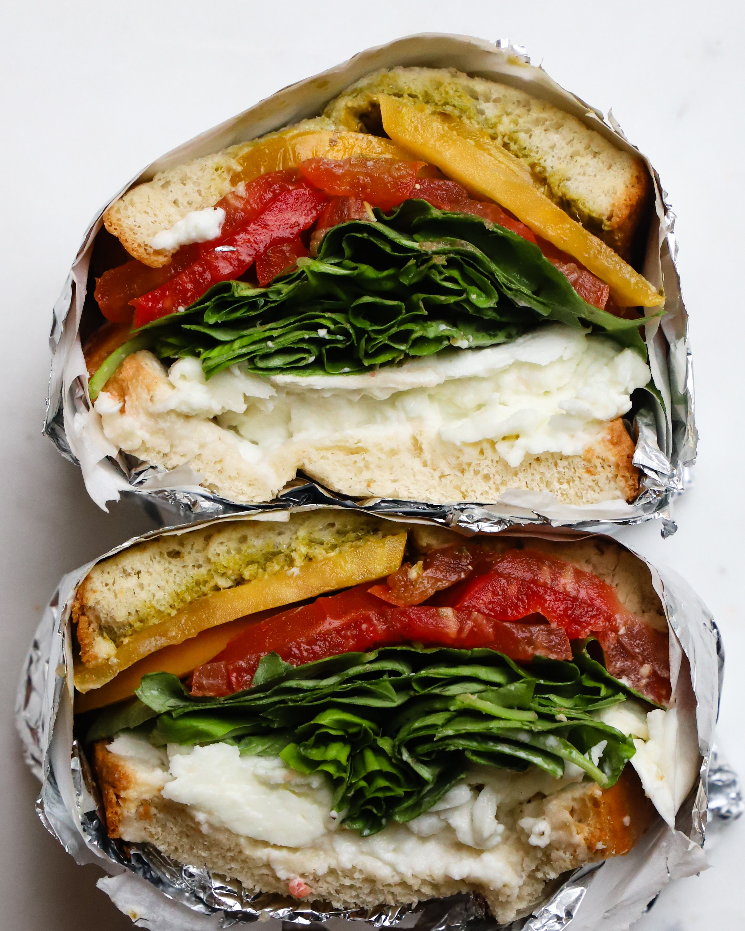 Heirloom Tomato Caprese Sandwich