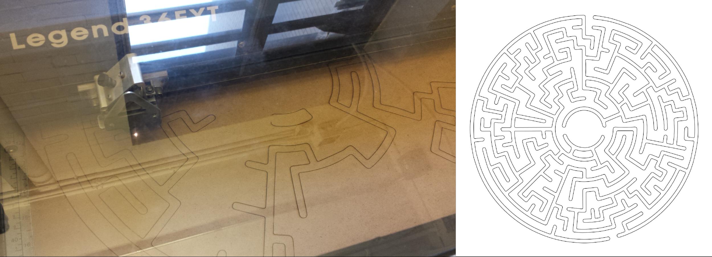 Laser cutting the maze