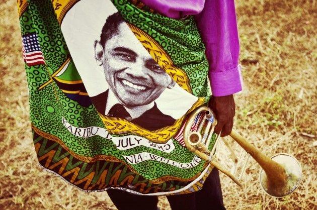 Barack Obama commemorative wax print, West Africa