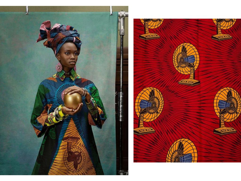 Fans African textiles vlisco