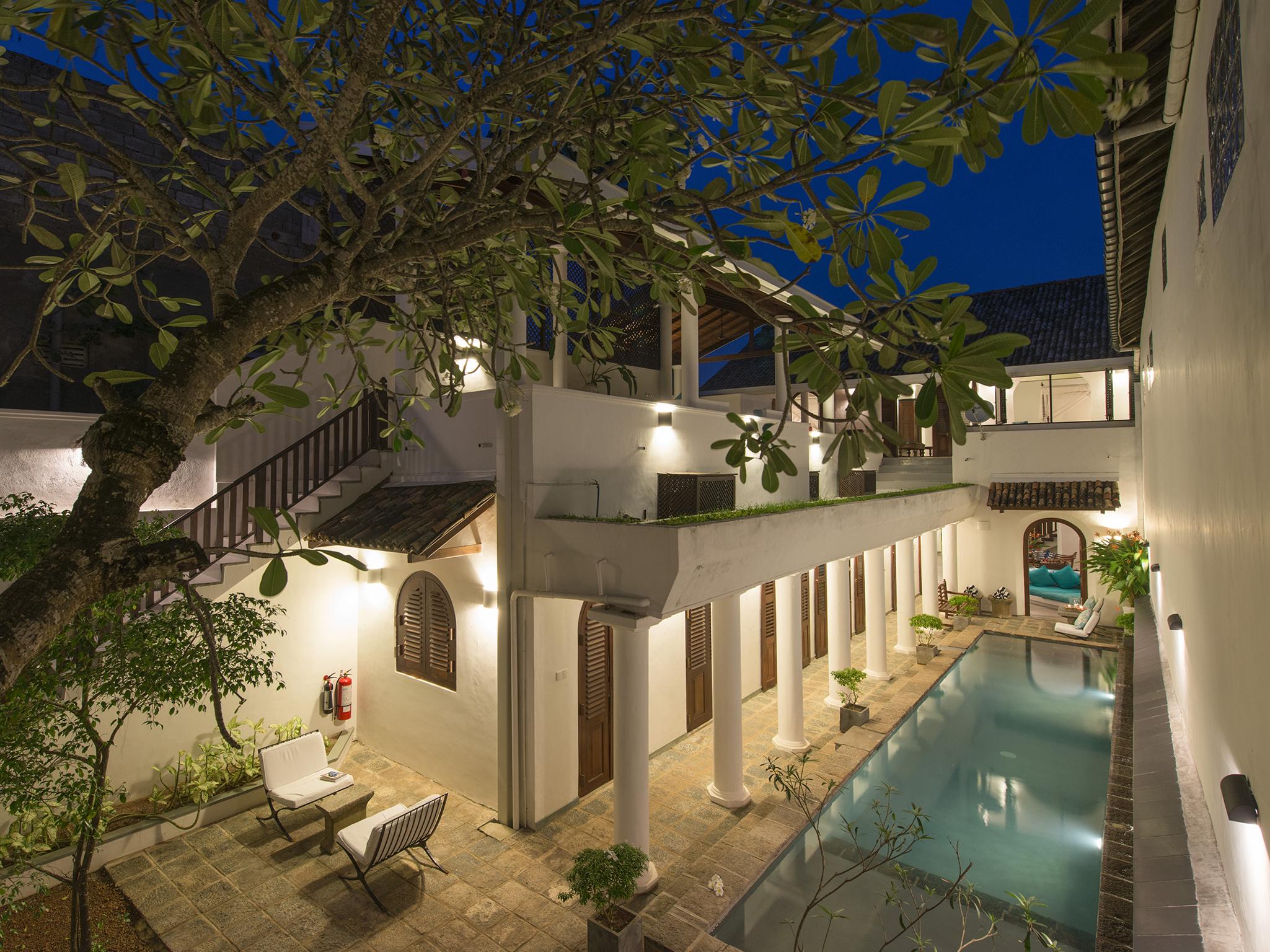 15-Ambassadors House-Galle - Pool aerial at night.jpg