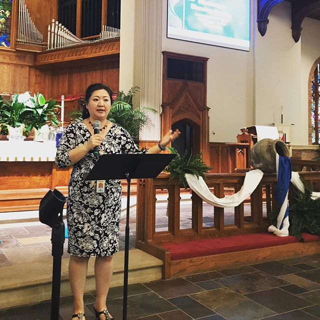 Rev. Judy Chung runs us through rehearsal for Missionary Blessing Service #umcmission