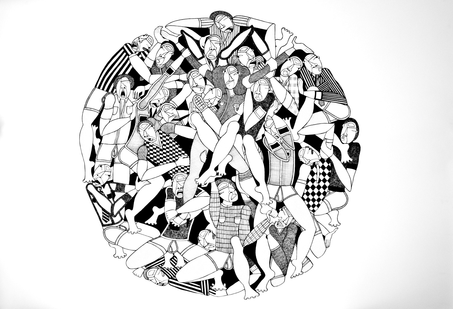 Vetruvian Woman, 30 x 44 inches, ink on paper, 2010, private collection