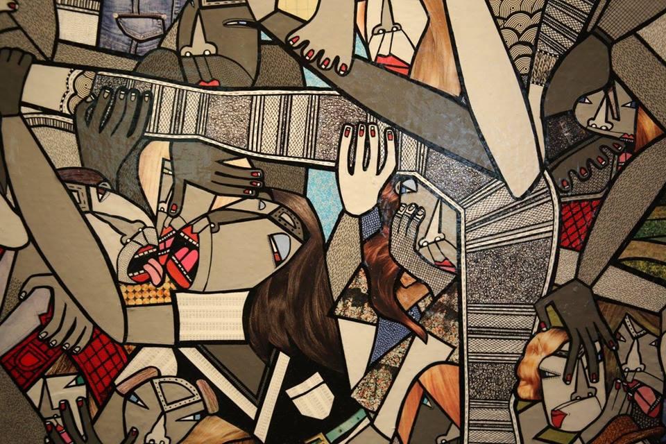 """Detail of """"The Modern Plague"""""""