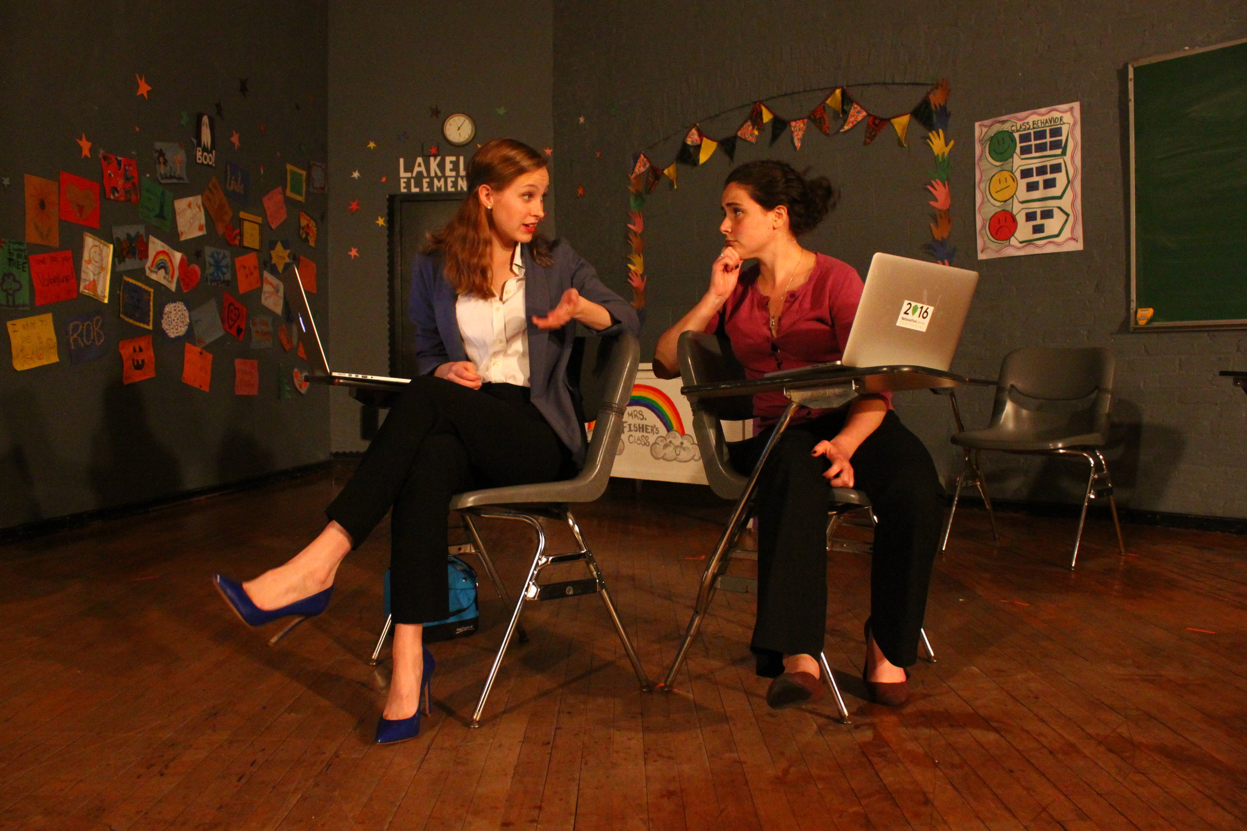 Hi! How Are You! How's Your Sex Life?  by Taylor Beidler. Scenic Design and Photos by Sean Perreira. Featured: Dana Dreyfuss and Megan McCarthy.
