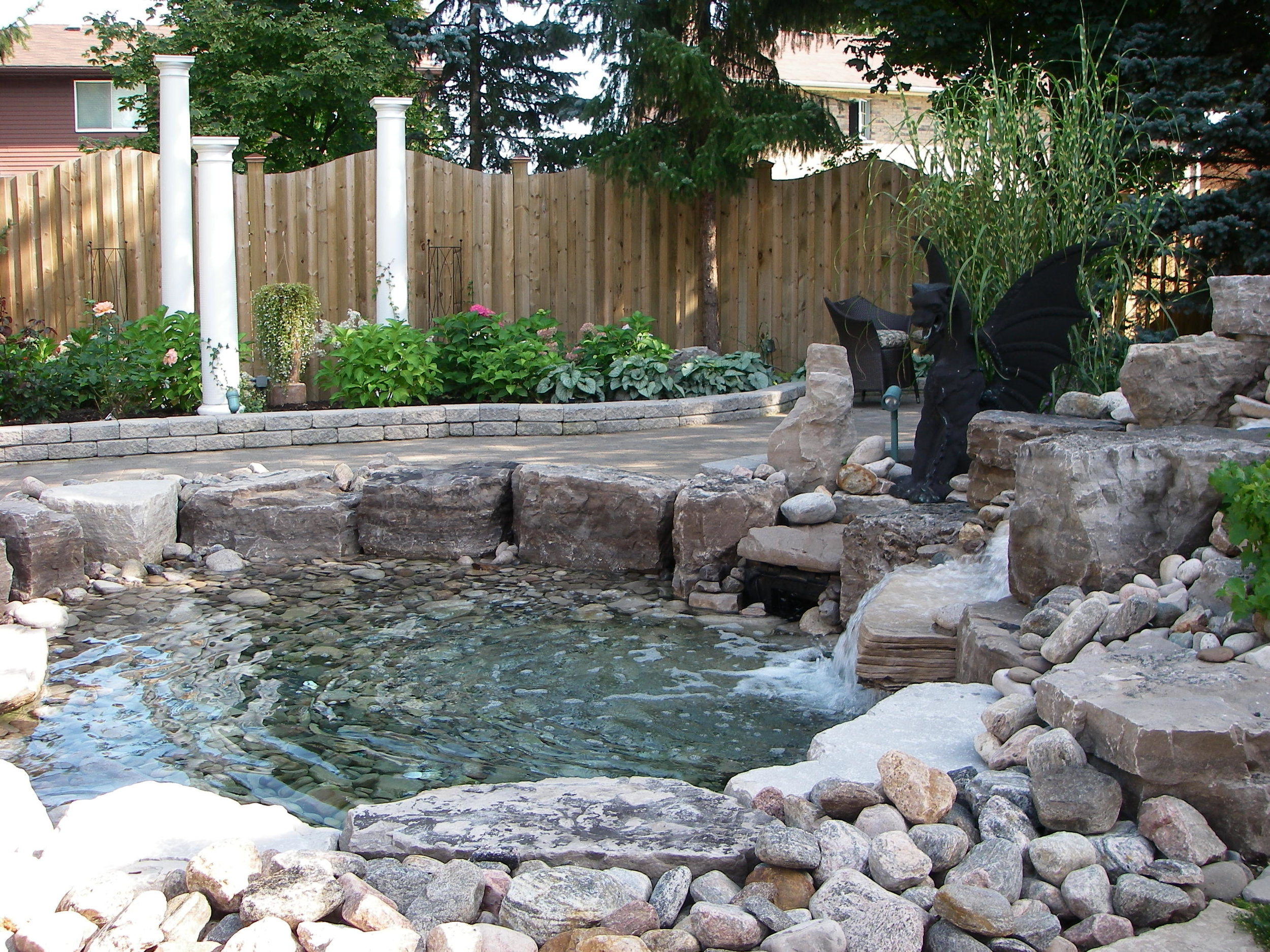 Custom pond.