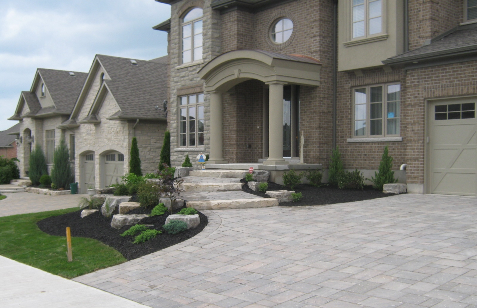 Front entrance and driveway.