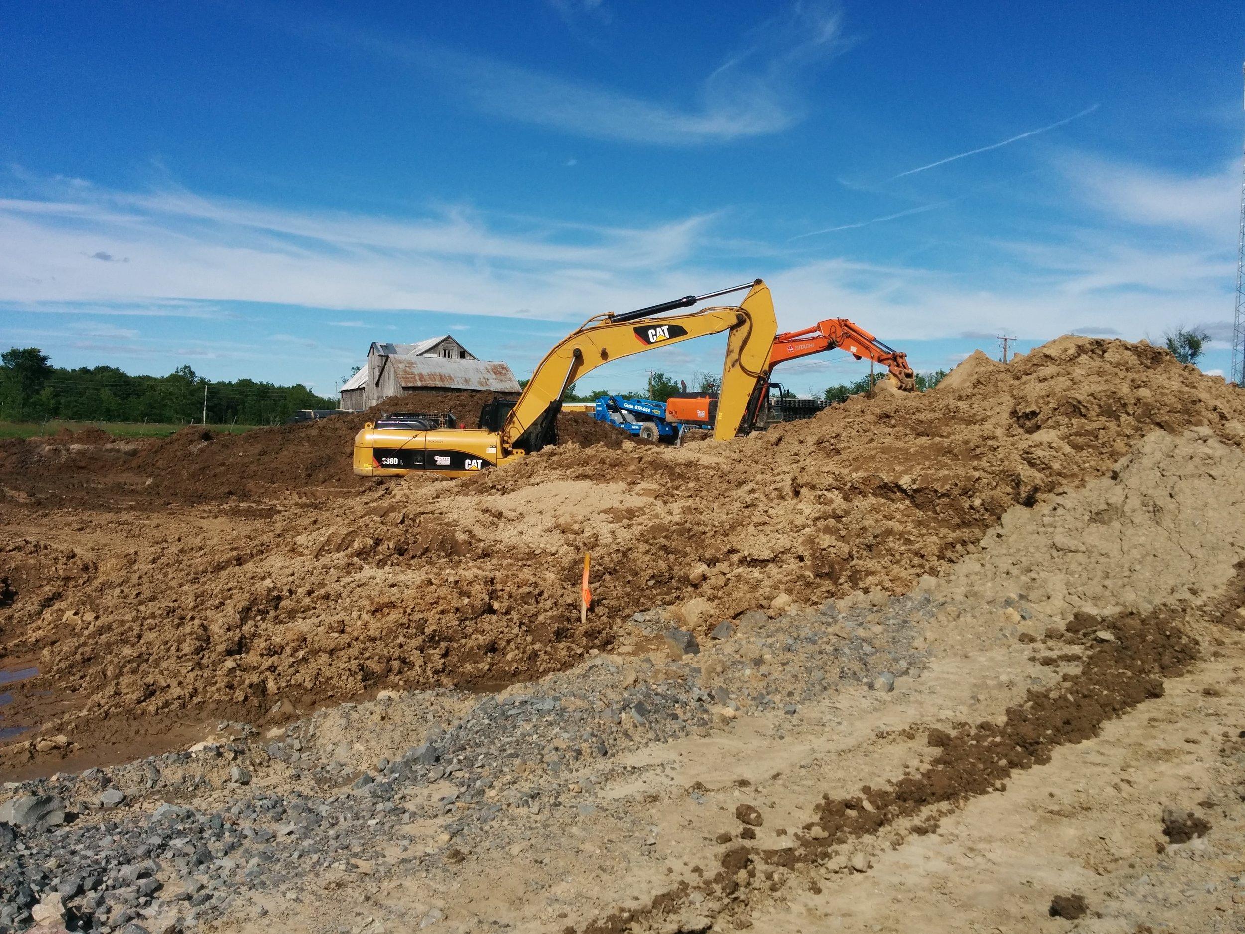 Excavating SWM pond.