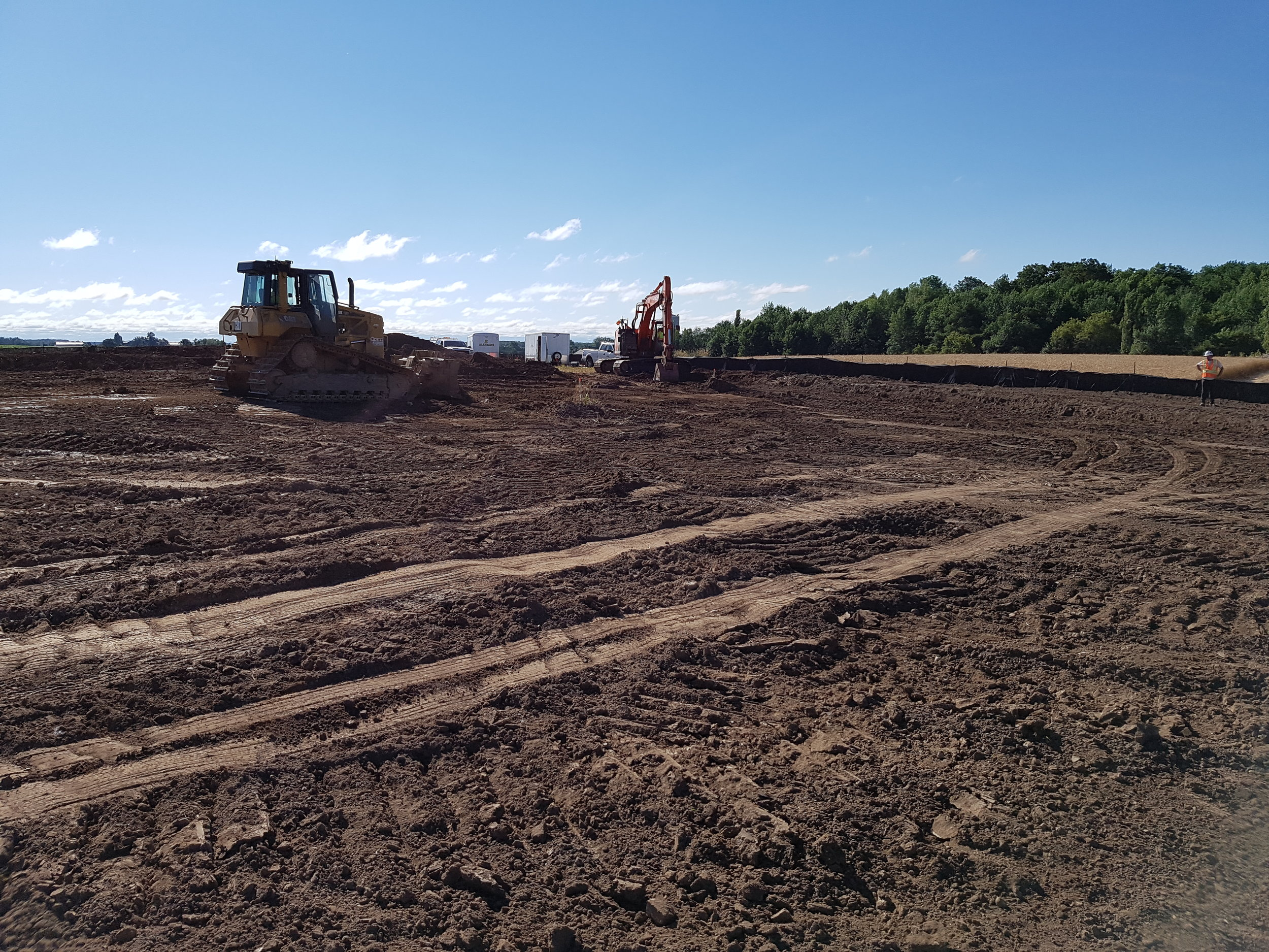 Topsoil stripping for compound area.