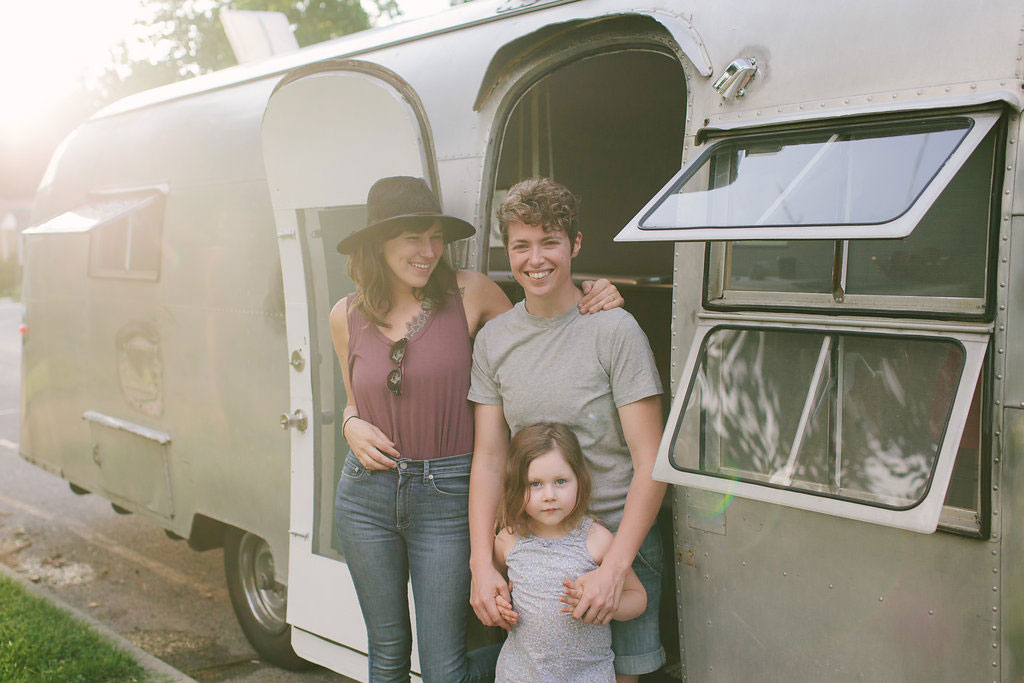 First official day on the road, curbside camping in front of our wedding photographer's bungalow in Cincinnati. We were so happy. All our hard work and sacrifice had paid off, and we were going. We'd not even gone a few hours away from our old house and town and we felt so free!
