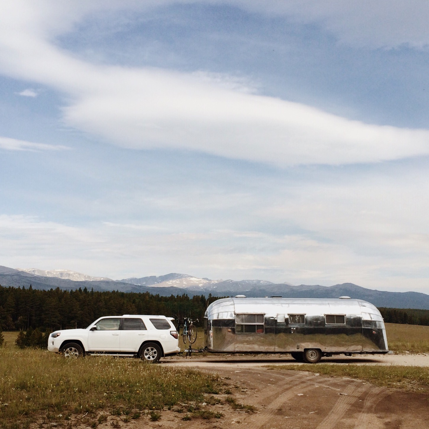 Louise in Wyoming. Breathtaking boondocking site.July 2015. Most insane mosquitos I've ever experienced - but there were just as many wildflowers, so it evened out.