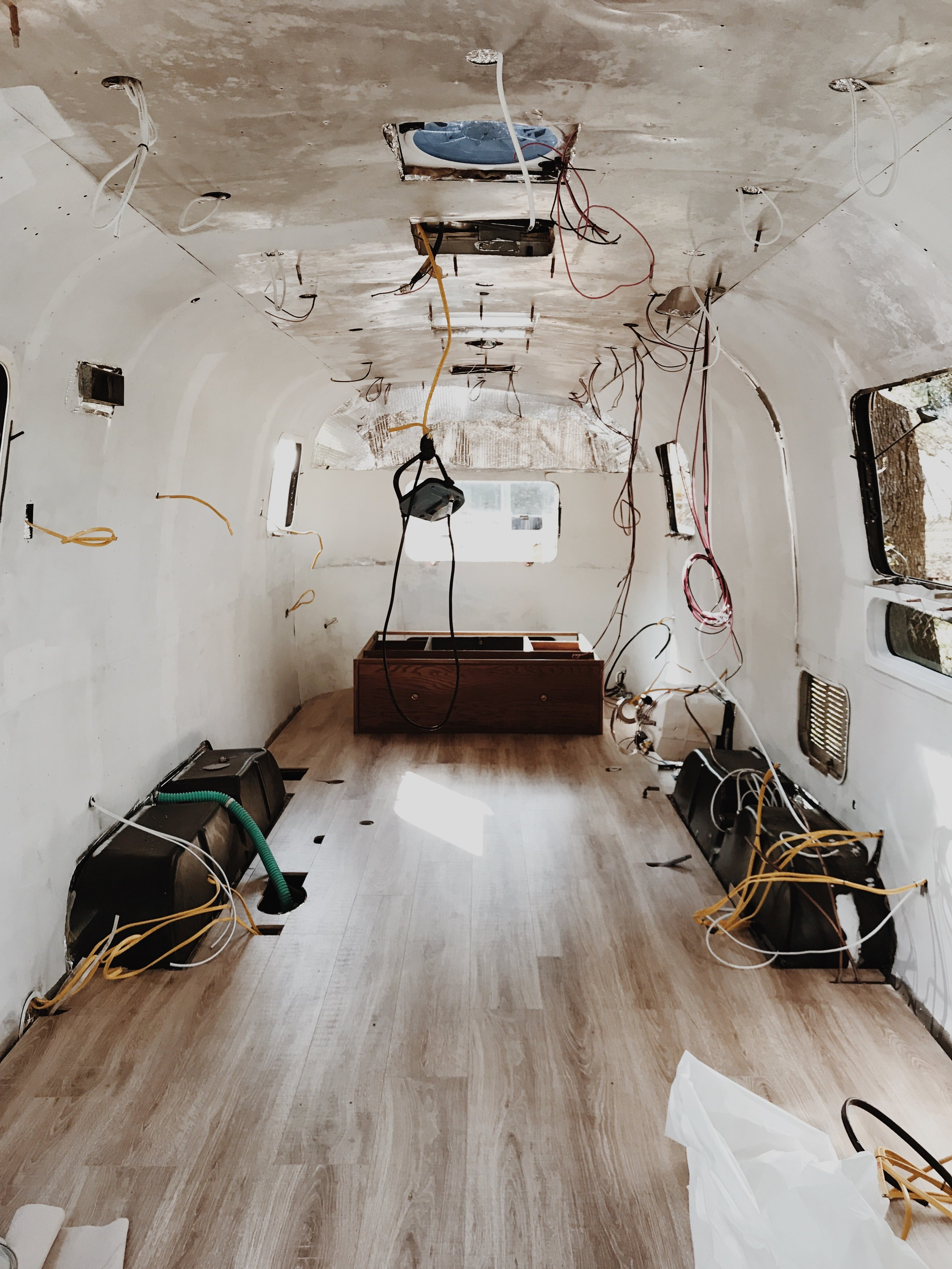 What our Airstream looked like the day we moved in.