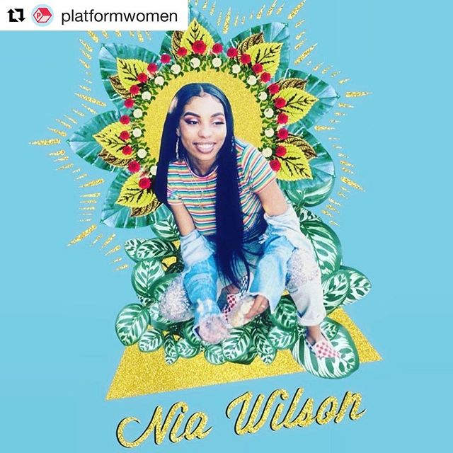 """#sayhername #sayhernameniawilson #niawilson  #blacklivesmatter  Reposted from @platformwomen. ・・・ In the words of Letifah Wilson, whose 18-year-old sister #NiaWilson was brutally killed by a white man in Oakland on July 22: """"As young black women, we shouldn't have to look behind our back. We should be living freely like everybody else."""" #SayHerName #BlackLivesMatter .art by @Broobs.psd"""