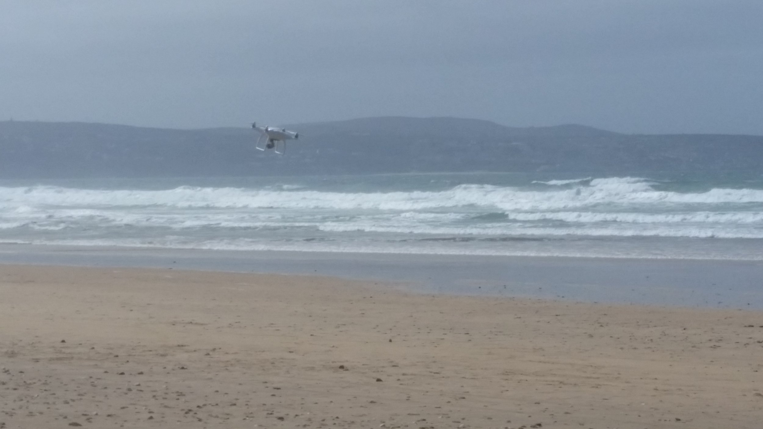 Drones fighting winds