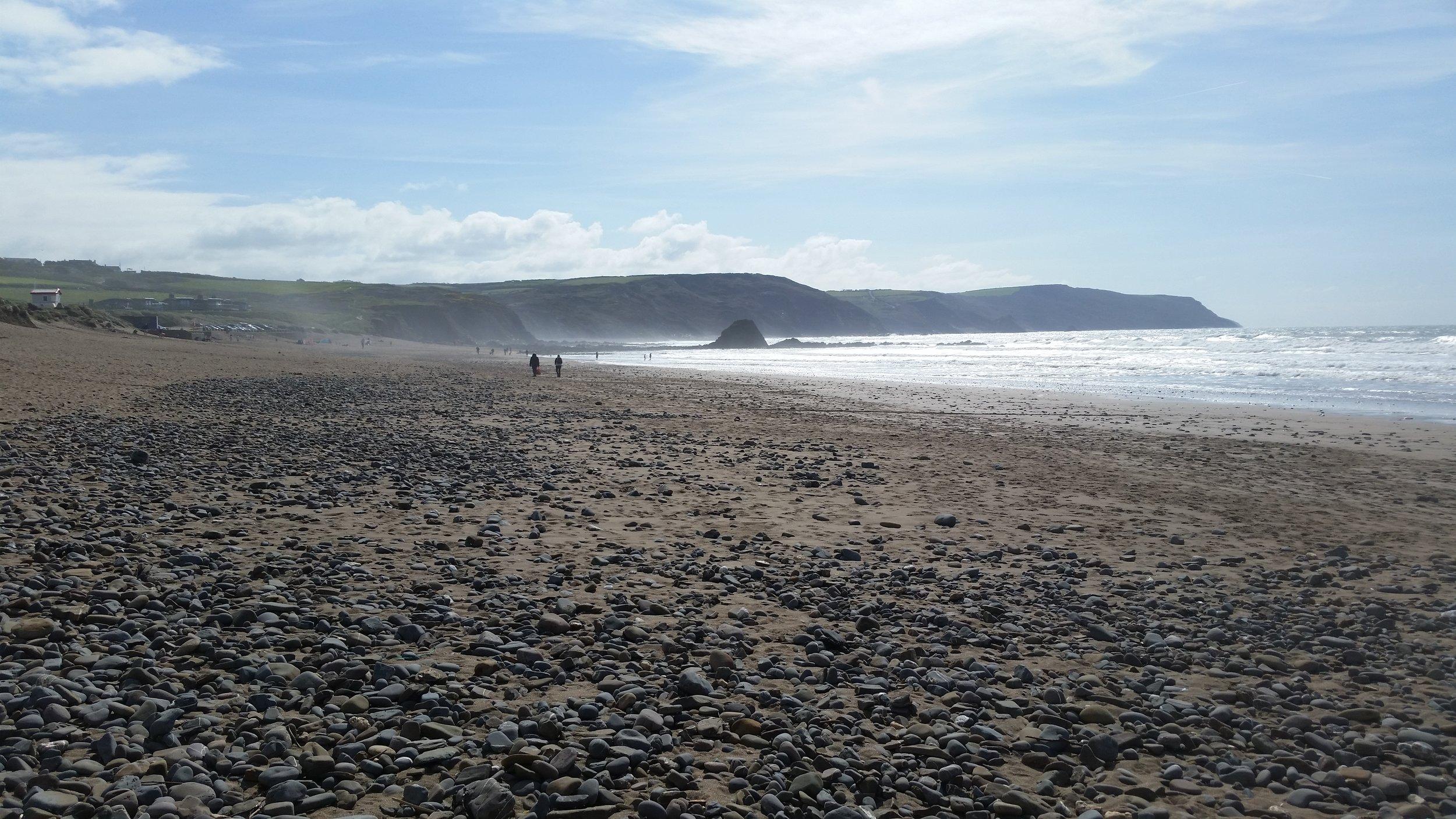 Blackrock beach, looking south.