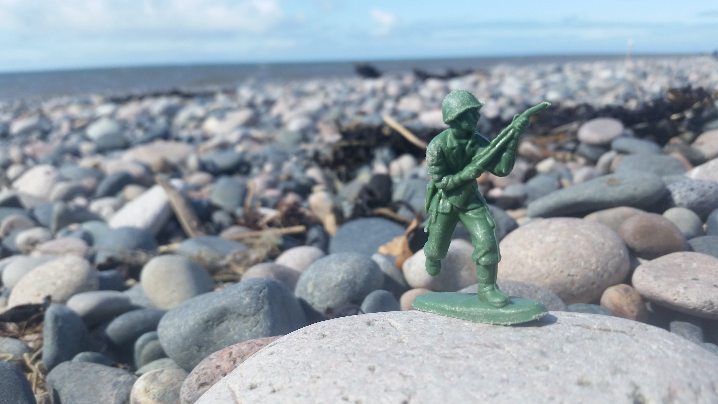 Saving Private Ryan - This GI looked a little forlorn without the rest of his platoon.