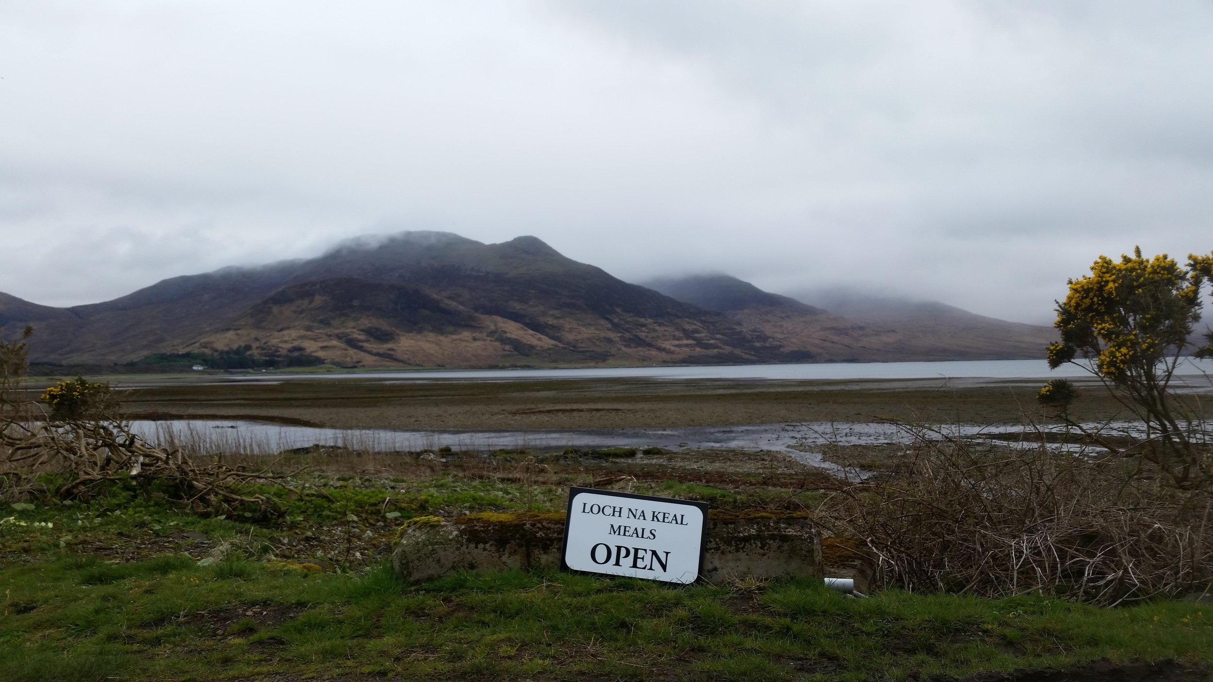 The spectacular view from Loch Na Keal Meals.
