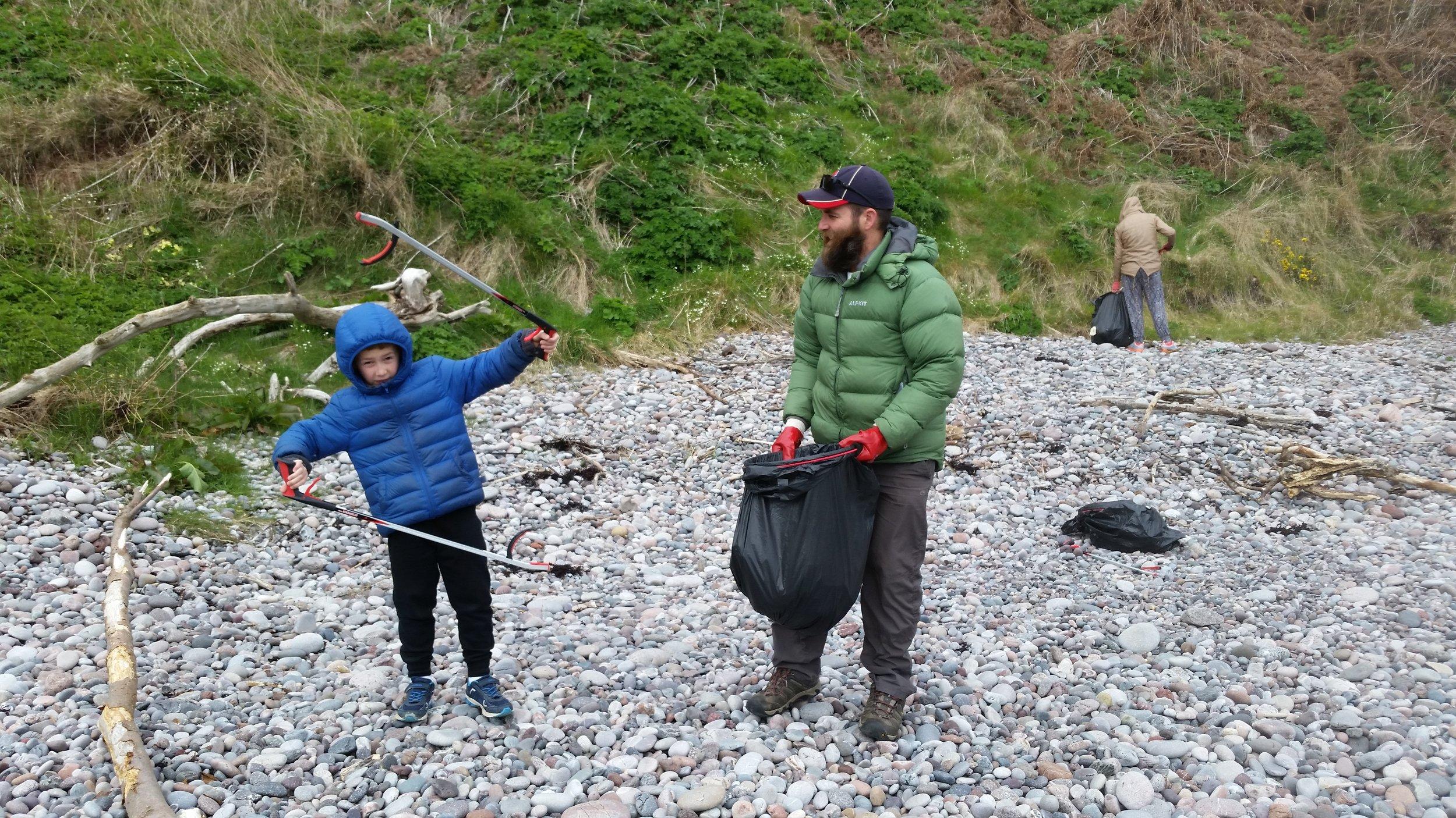 Daniel, the beach cleaning Ninja