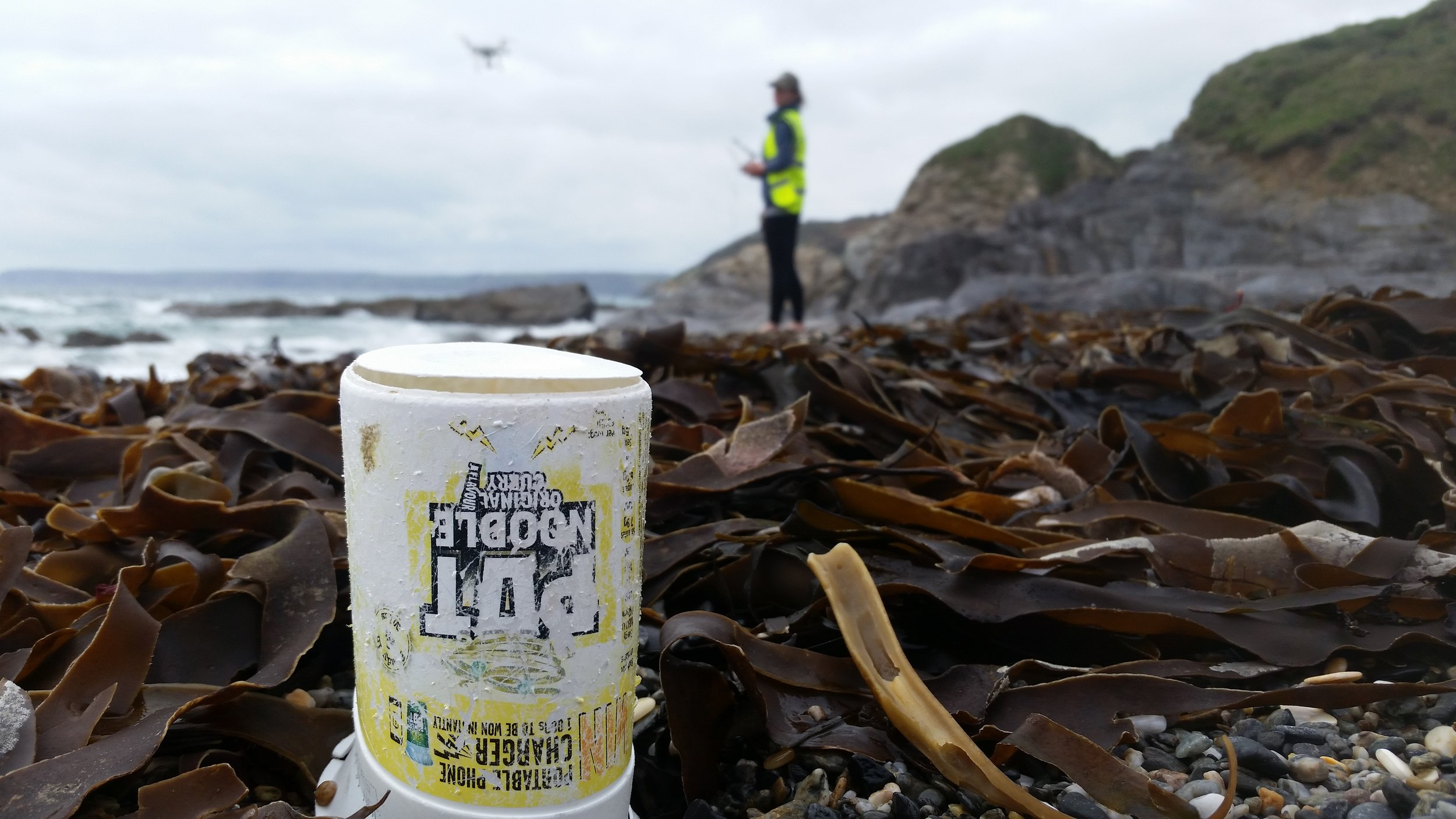 The ubiqutious Pot Noodle, Ellie and Pete found one on nearly every beach!