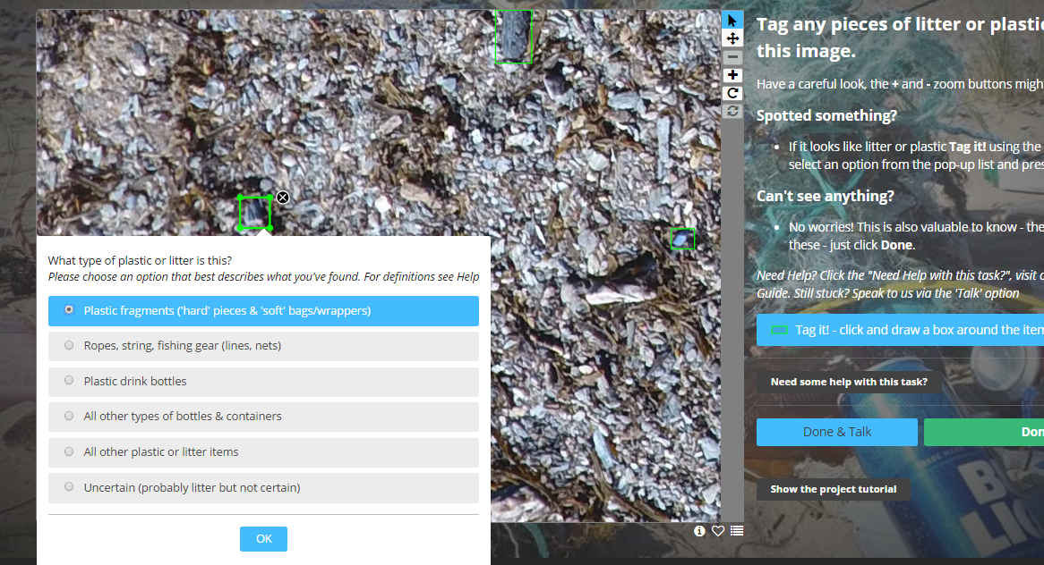 Tagging plastics has made it possible to teach our algorithm.