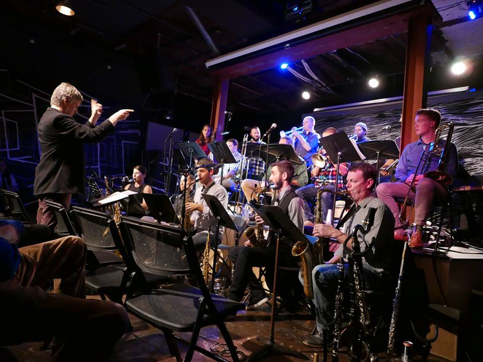 Ourbigband + Frank Carlberg - A nice review of Ourbigband's collaboration with composer Frank Carlberg; a celebration of the Thelonious Monk Centennial, performing Frank's original music from