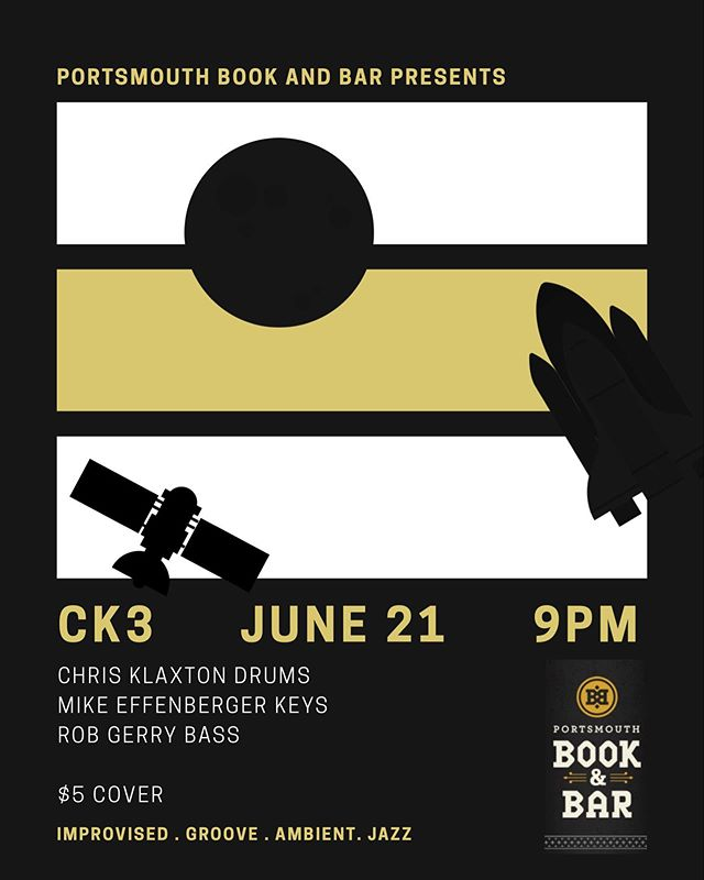 @booknbar 6.29 9PM with Rob Gerry and Mike Effenberger. Electronics/echo/pedals/a few tunes/mostly improvised #portsmouthnh @portsmouthnh #seacoastonline @tristanklaw #improvisedmusic #groovemusic #jazz #noise