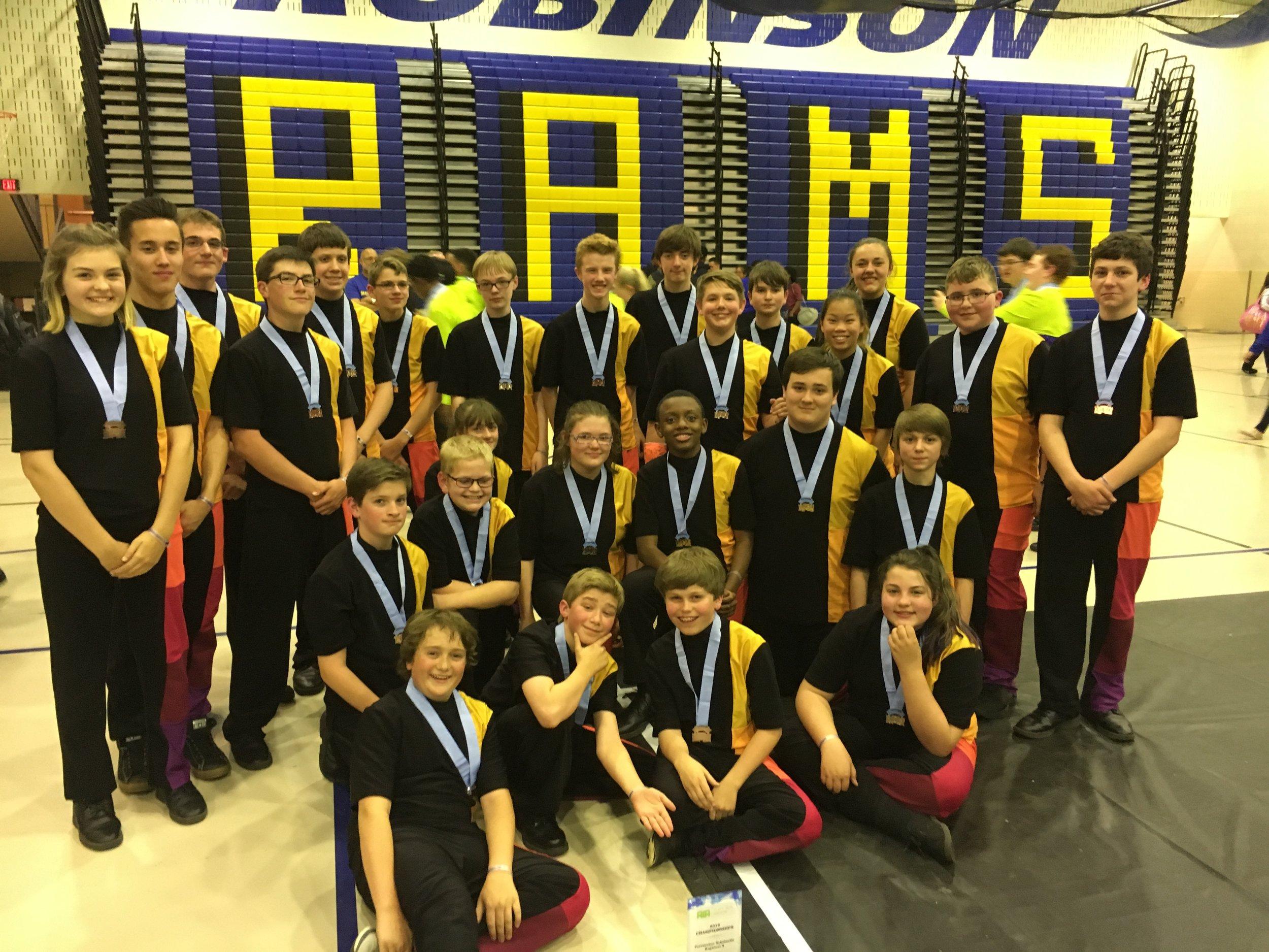 2016 AIA Scholastic A Bronze Medalist. Powhatan JV Percussion Ensemble