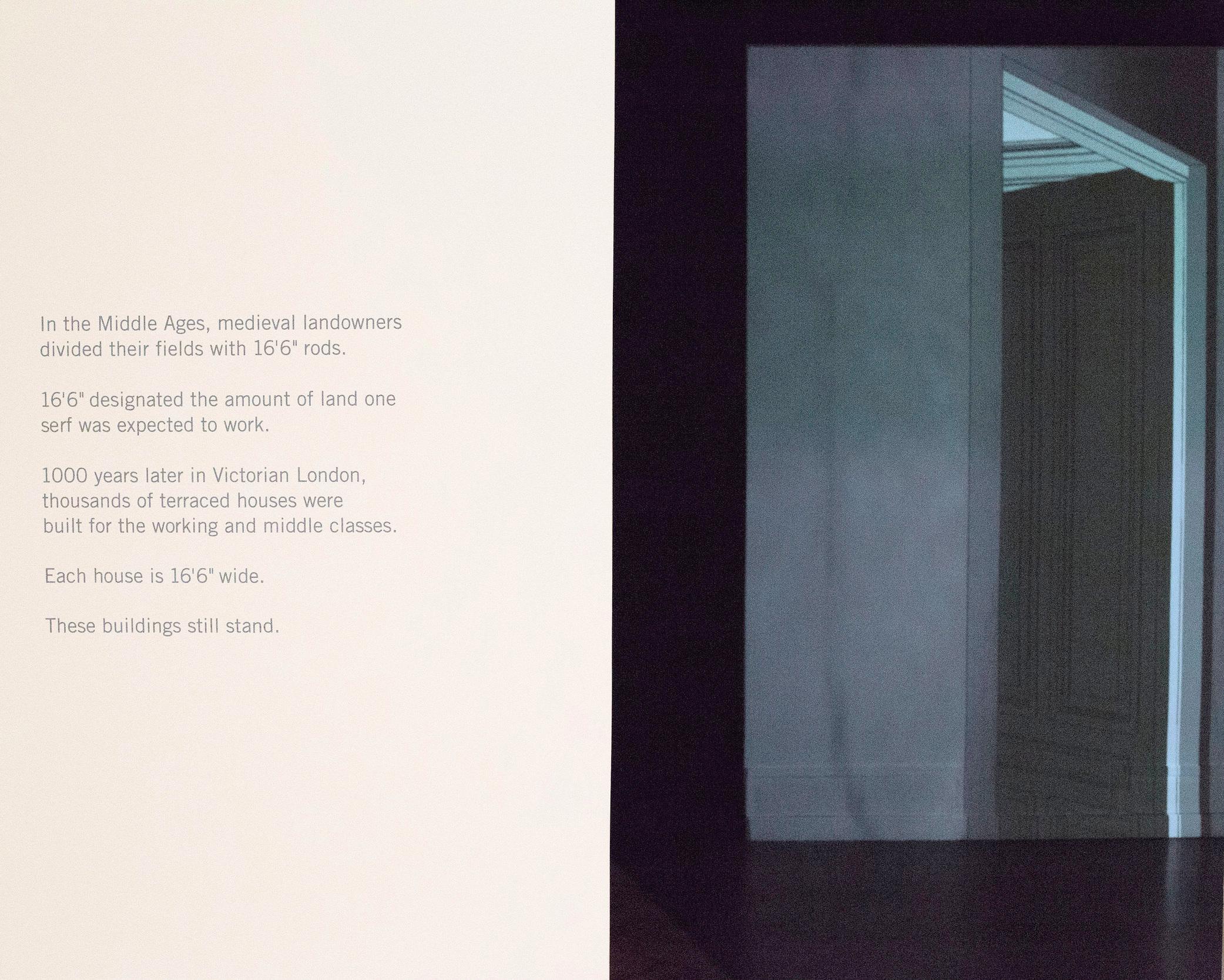 """16'6"""" (installation view)"""