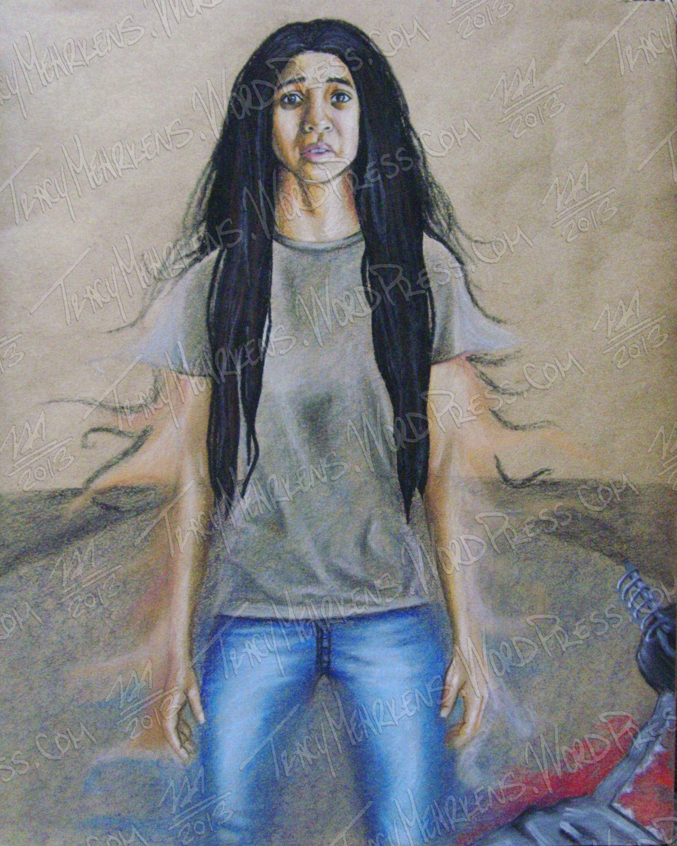 Copy of Life's Too Short. Pastel on Paper. 8x10 in. 2013.