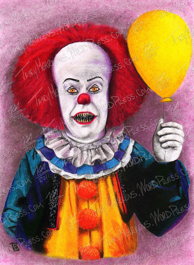 Copy of Pennywise. Pastel on Paper. 7.75x10.75 in. 2010.