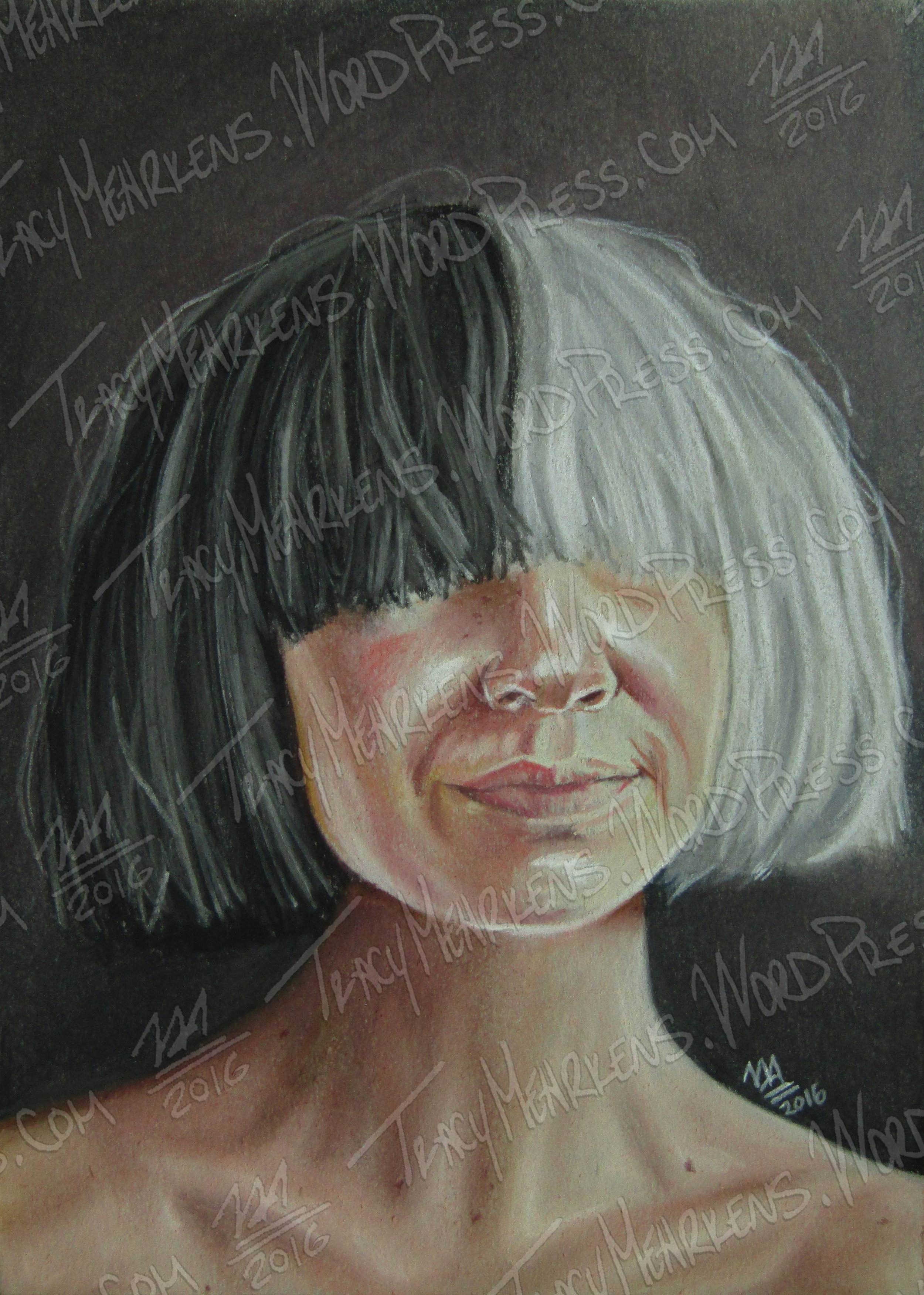 Sia. Pastel on Paper. 5x7 in. 2016.